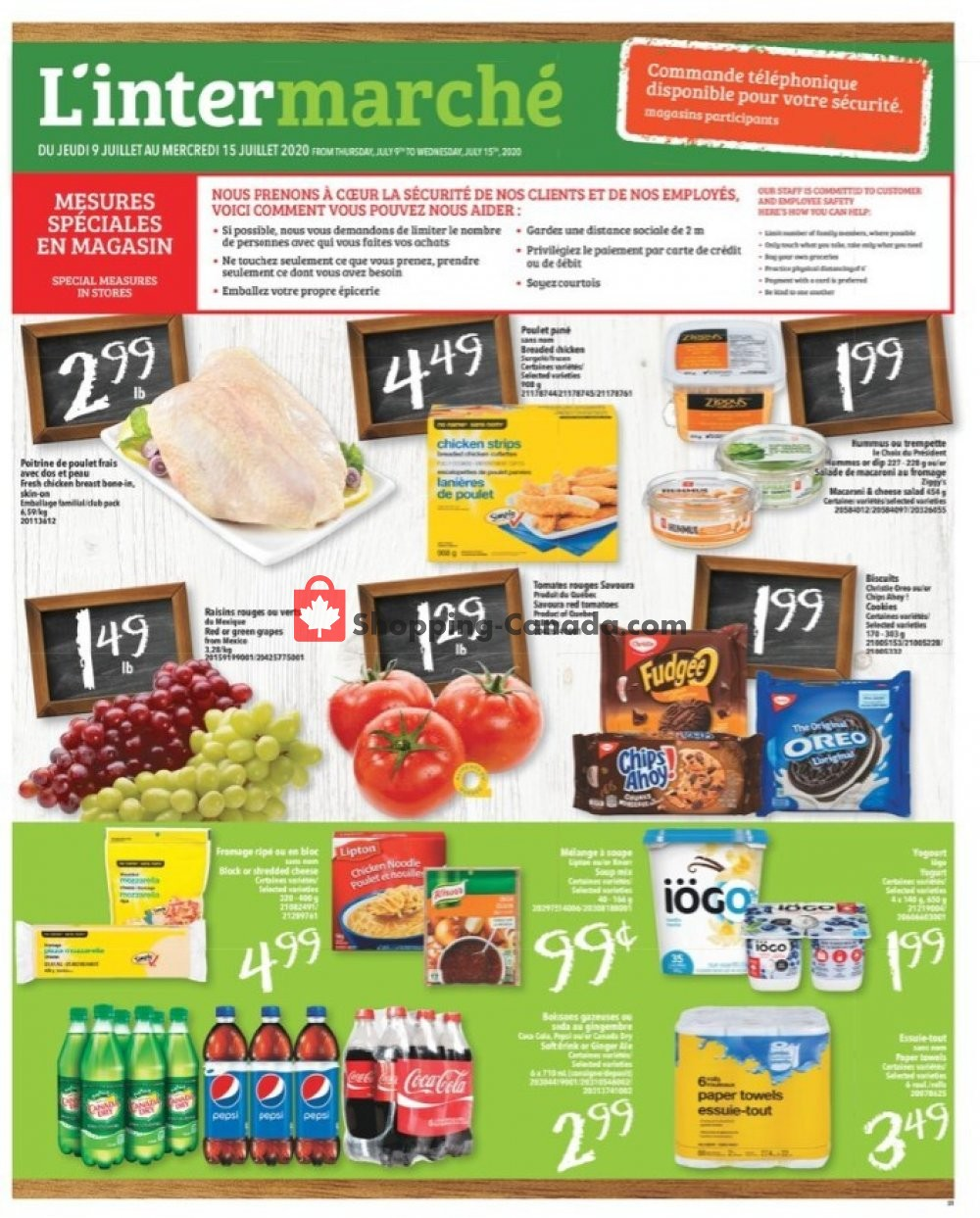 Flyer L'inter Marché Canada - from Thursday July 9, 2020 to Wednesday July 15, 2020