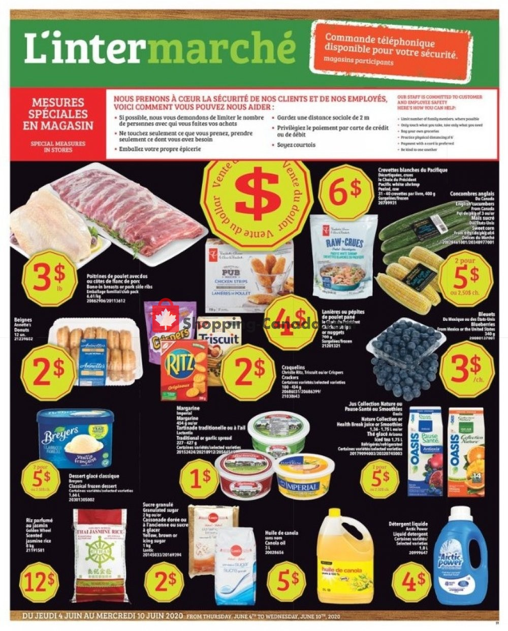 Flyer L'inter Marché Canada - from Thursday June 4, 2020 to Wednesday June 10, 2020