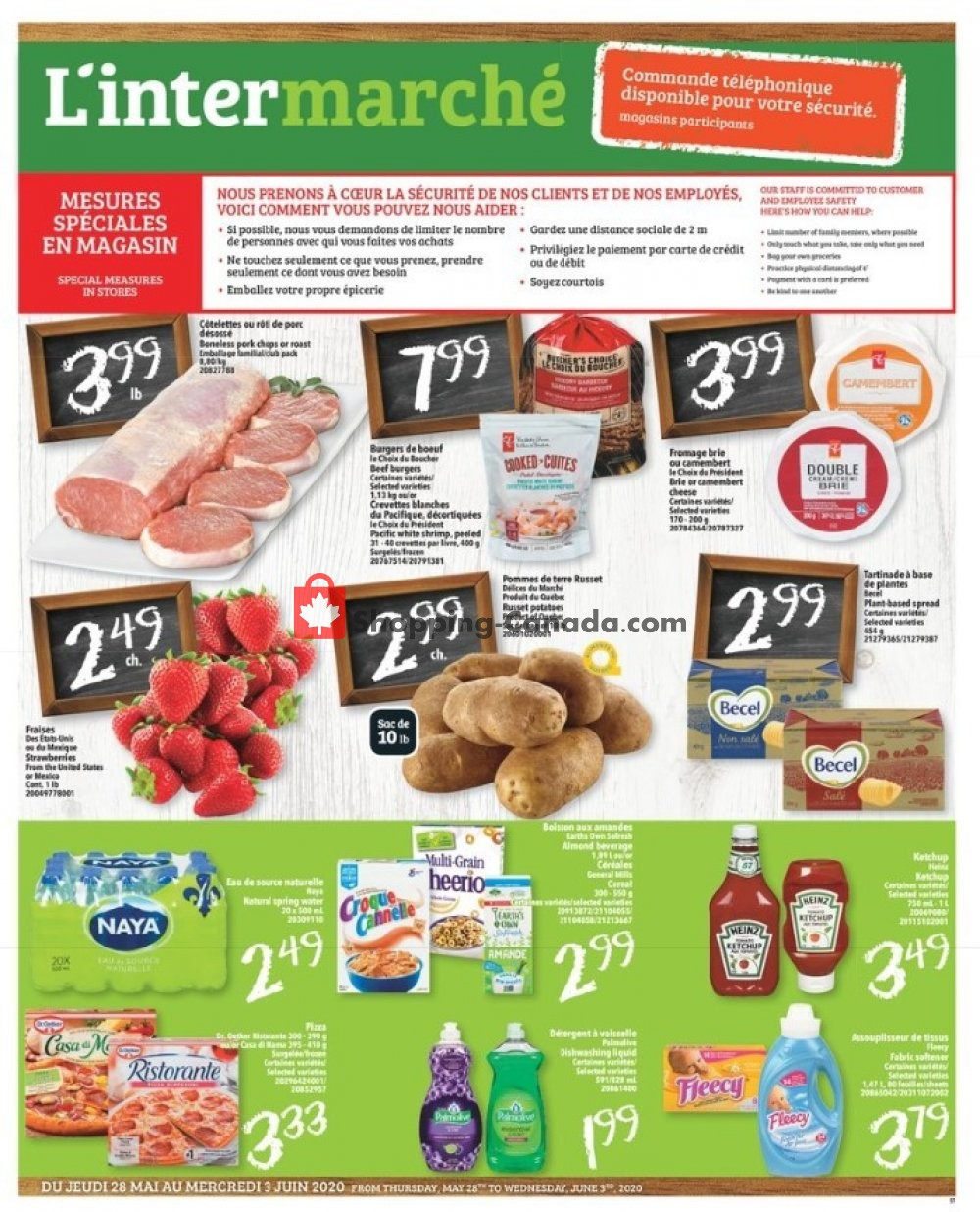 Flyer L'inter Marché Canada - from Thursday May 28, 2020 to Wednesday June 3, 2020