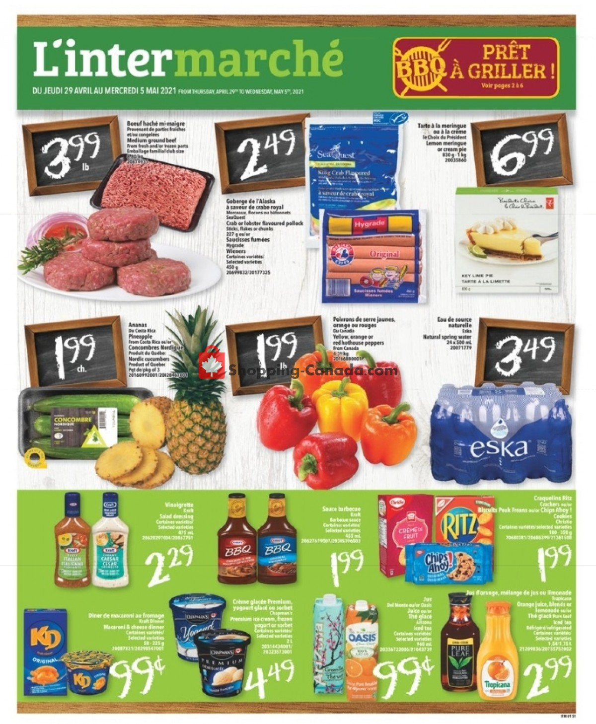 Flyer L'inter Marché Canada - from Thursday April 29, 2021 to Wednesday May 5, 2021