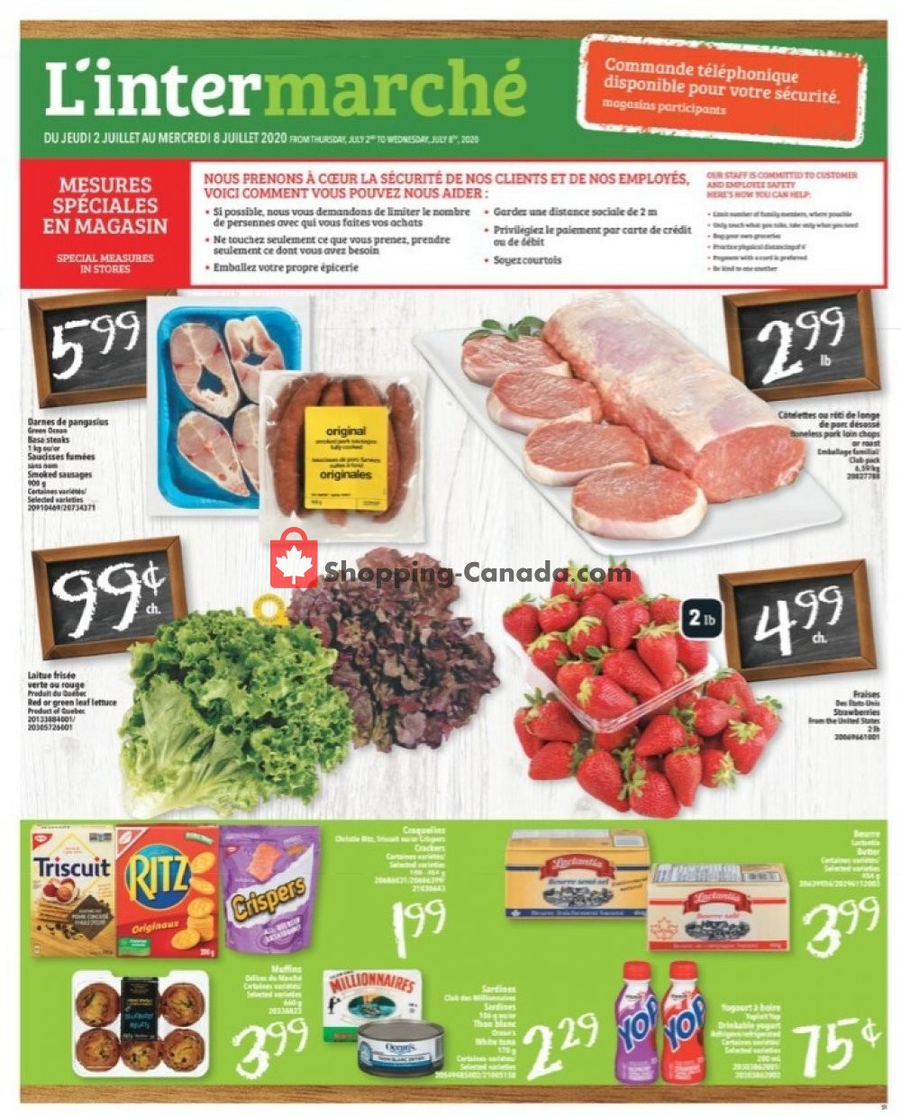 Flyer L'inter Marché Canada - from Thursday July 2, 2020 to Wednesday July 8, 2020