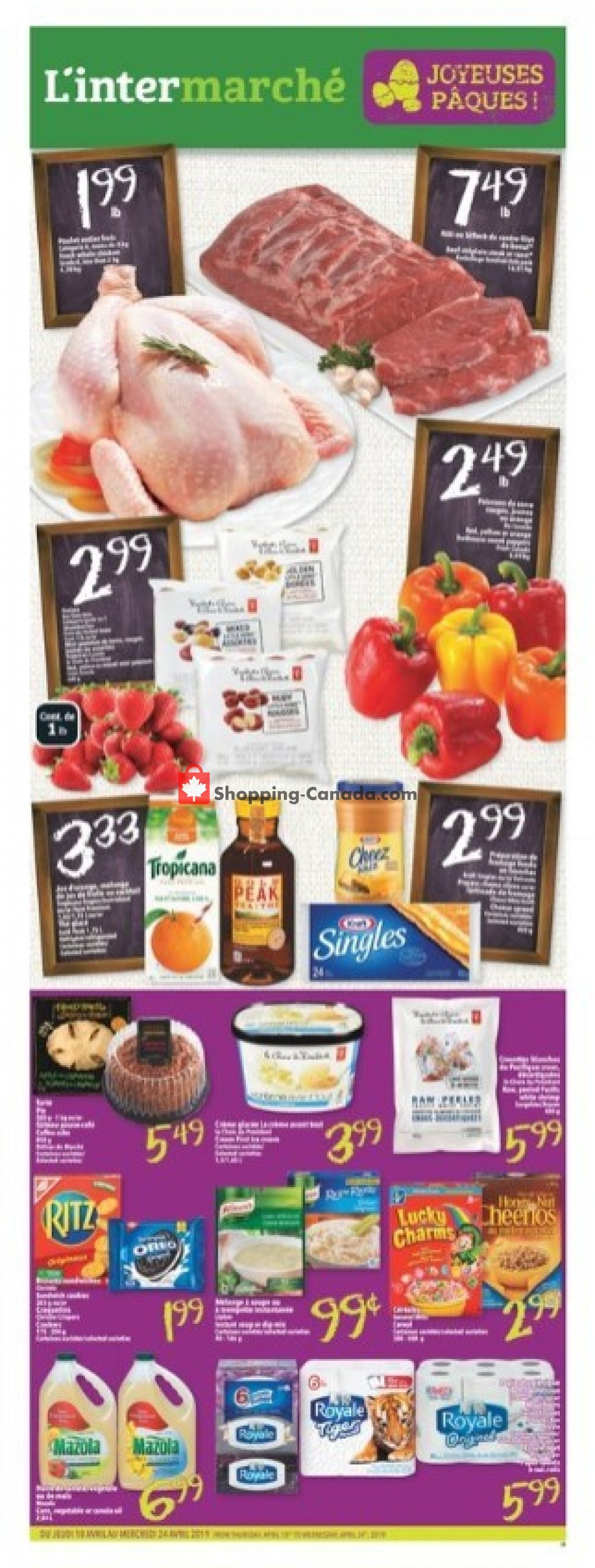 Flyer L'inter Marché Canada - from Thursday April 18, 2019 to Wednesday April 24, 2019