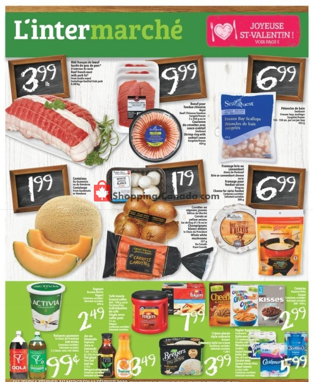 Flyer L'inter Marché Canada - from Thursday February 6, 2020 to Wednesday February 12, 2020