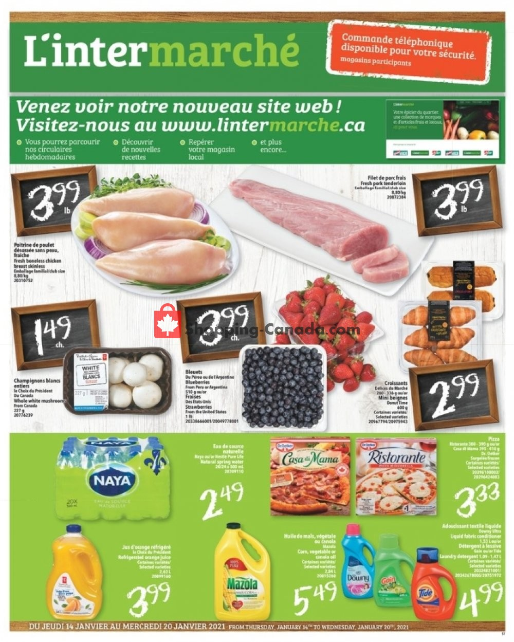 Flyer L'inter Marché Canada - from Thursday January 14, 2021 to Wednesday January 20, 2021
