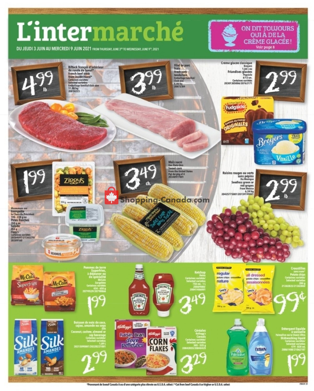 Flyer L'inter Marché Canada - from Thursday June 3, 2021 to Wednesday June 9, 2021