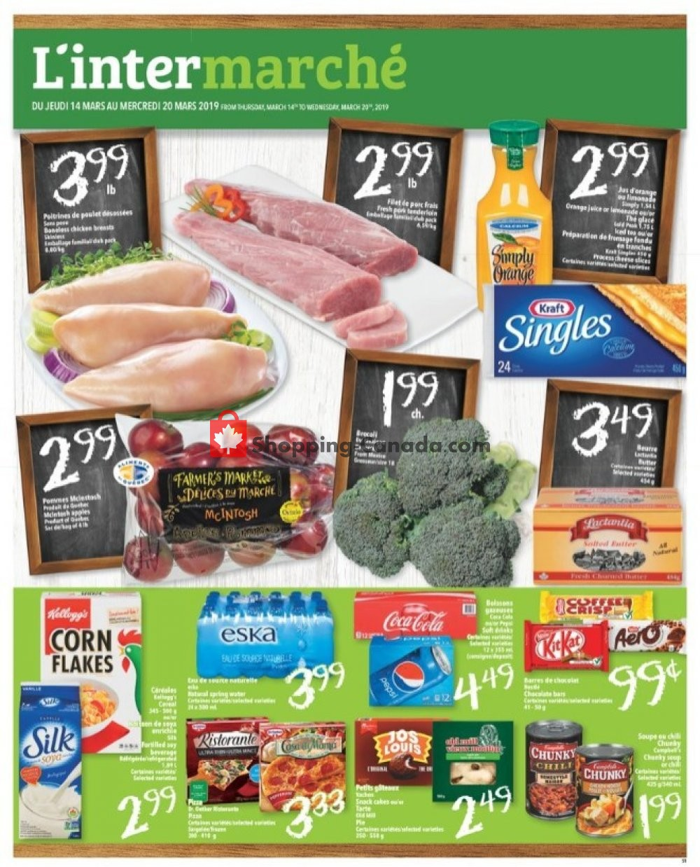 Flyer L'inter Marché Canada - from Thursday March 14, 2019 to Wednesday March 20, 2019