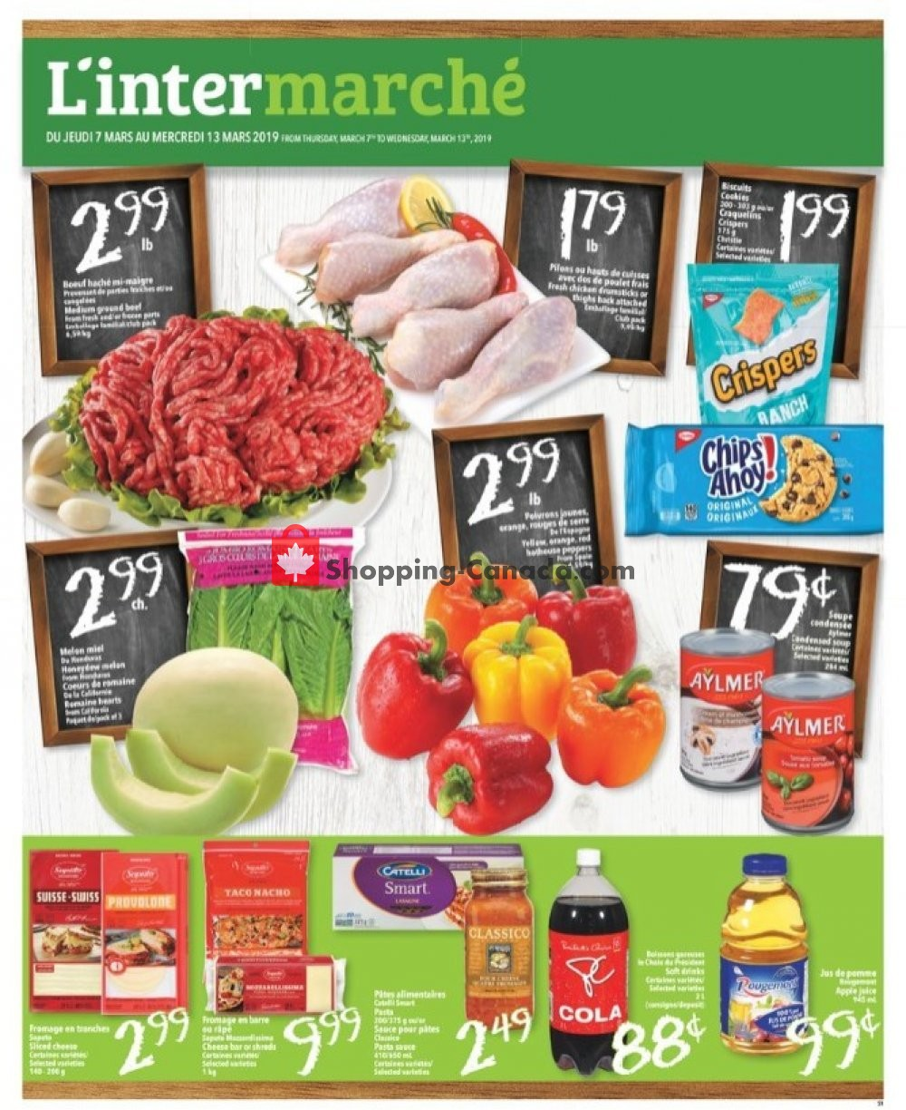 Flyer L'inter Marché Canada - from Thursday March 7, 2019 to Wednesday March 13, 2019