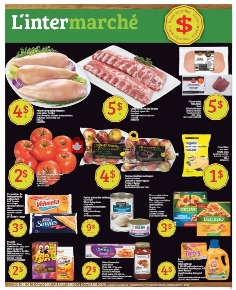 Flyer L'inter Marché Canada - from Thursday October 15, 2020 to Wednesday October 21, 2020