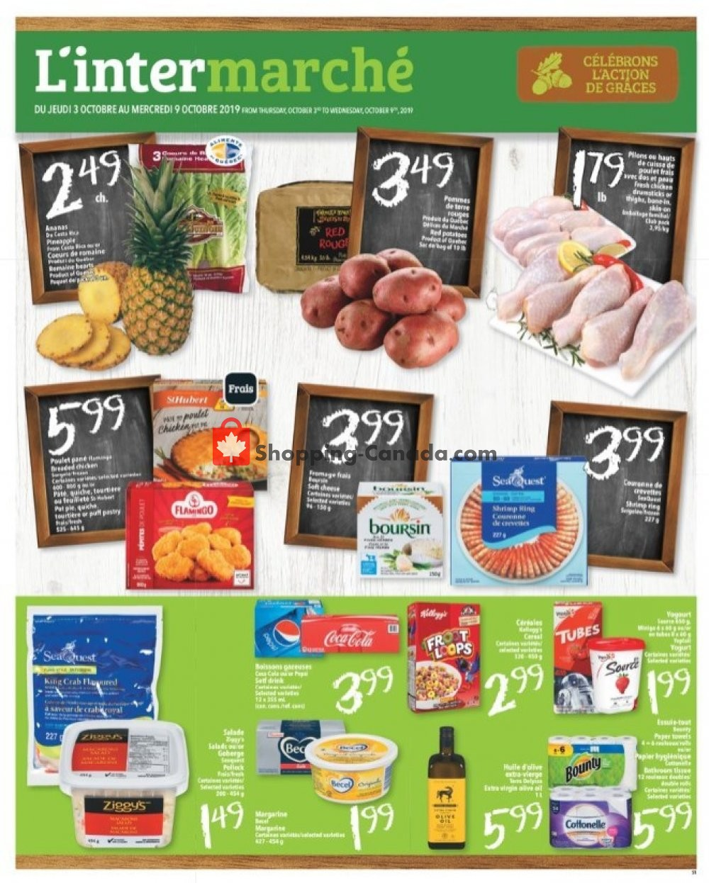 Flyer L'inter Marché Canada - from Thursday October 3, 2019 to Wednesday October 9, 2019