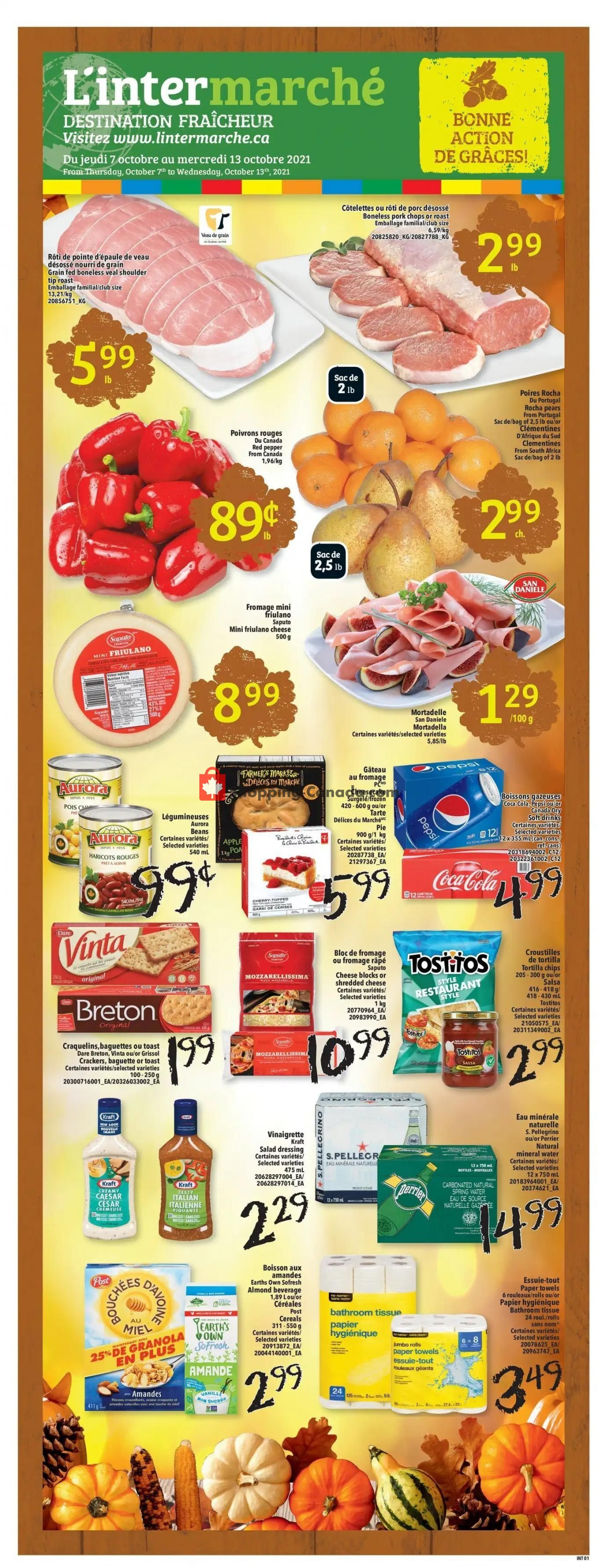 Flyer L'inter Marché Canada - from Thursday October 7, 2021 to Wednesday October 13, 2021