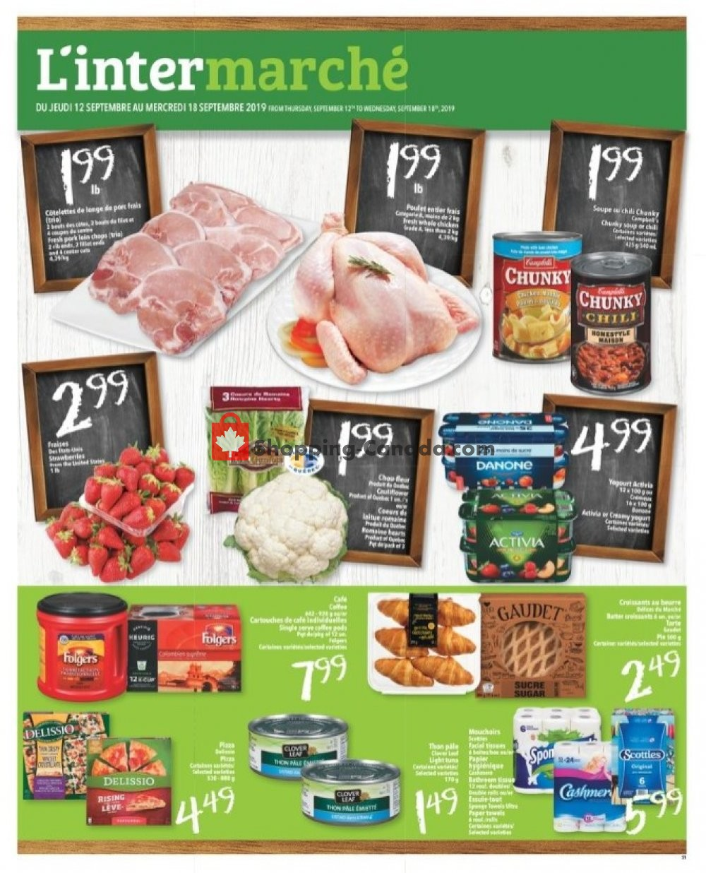 Flyer L'inter Marché Canada - from Thursday September 12, 2019 to Wednesday September 18, 2019