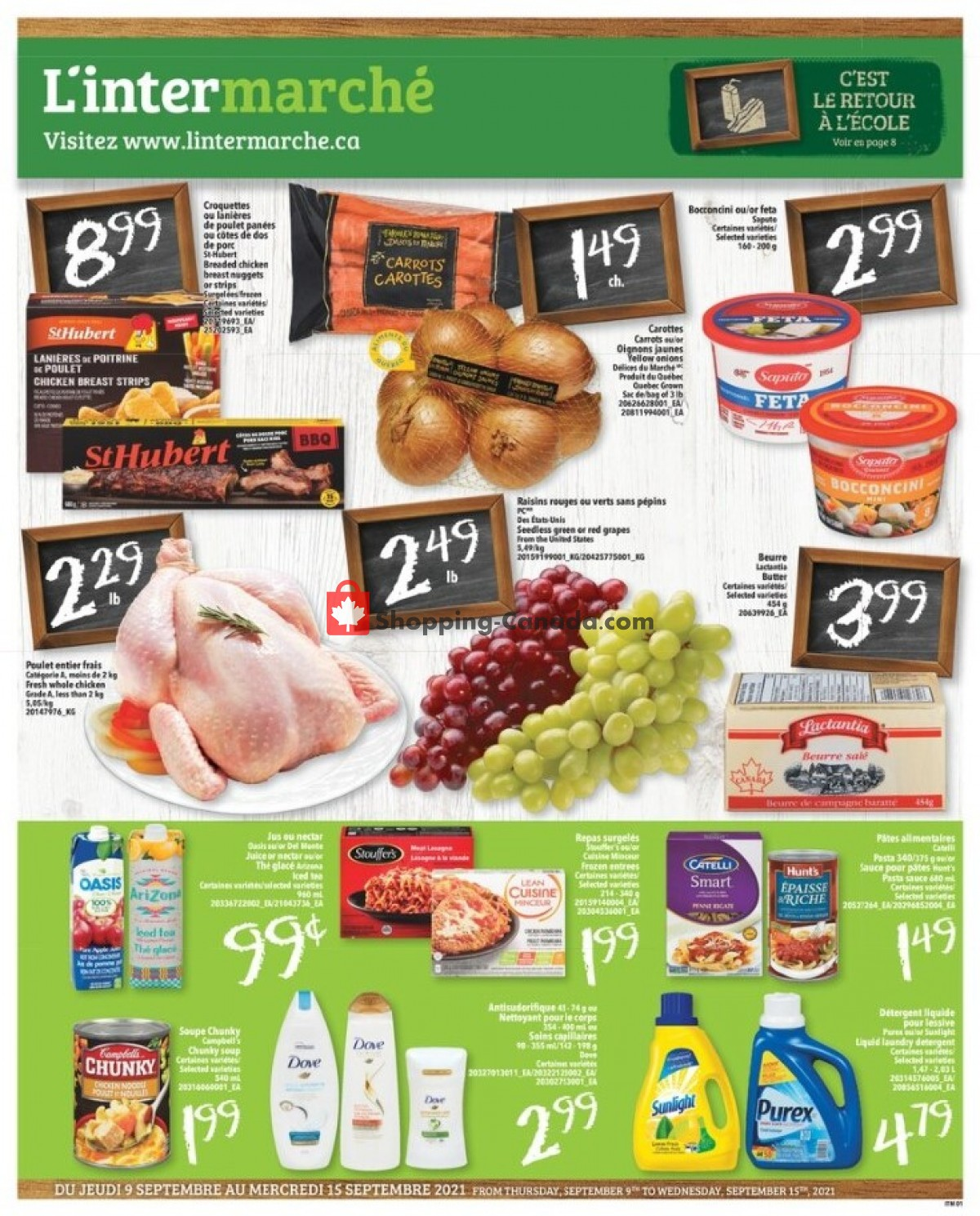 Flyer L'inter Marché Canada - from Thursday September 9, 2021 to Wednesday September 15, 2021