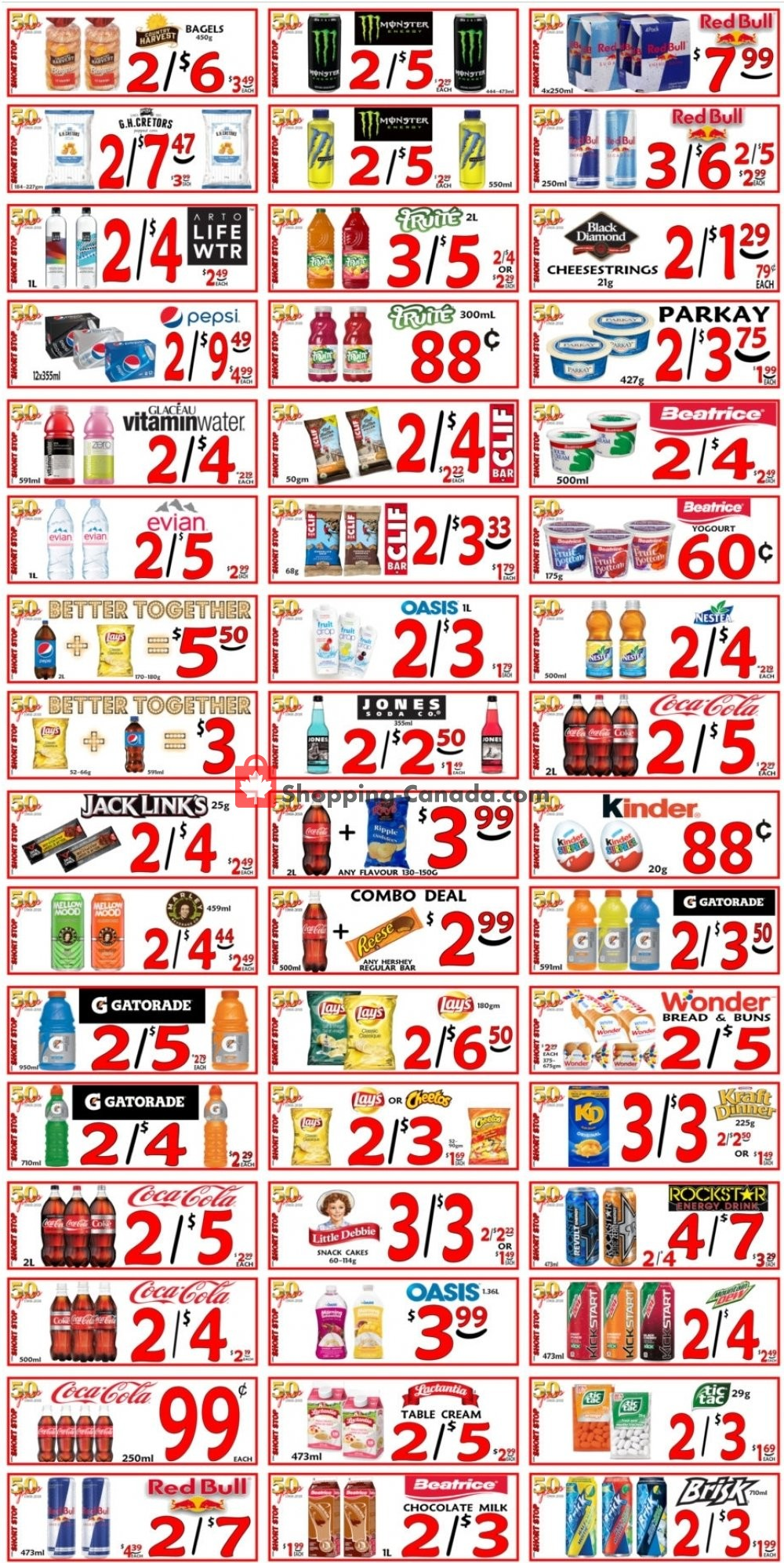 Flyer Little Short Stop Stores Canada - from Saturday September 7, 2019 to Friday September 13, 2019