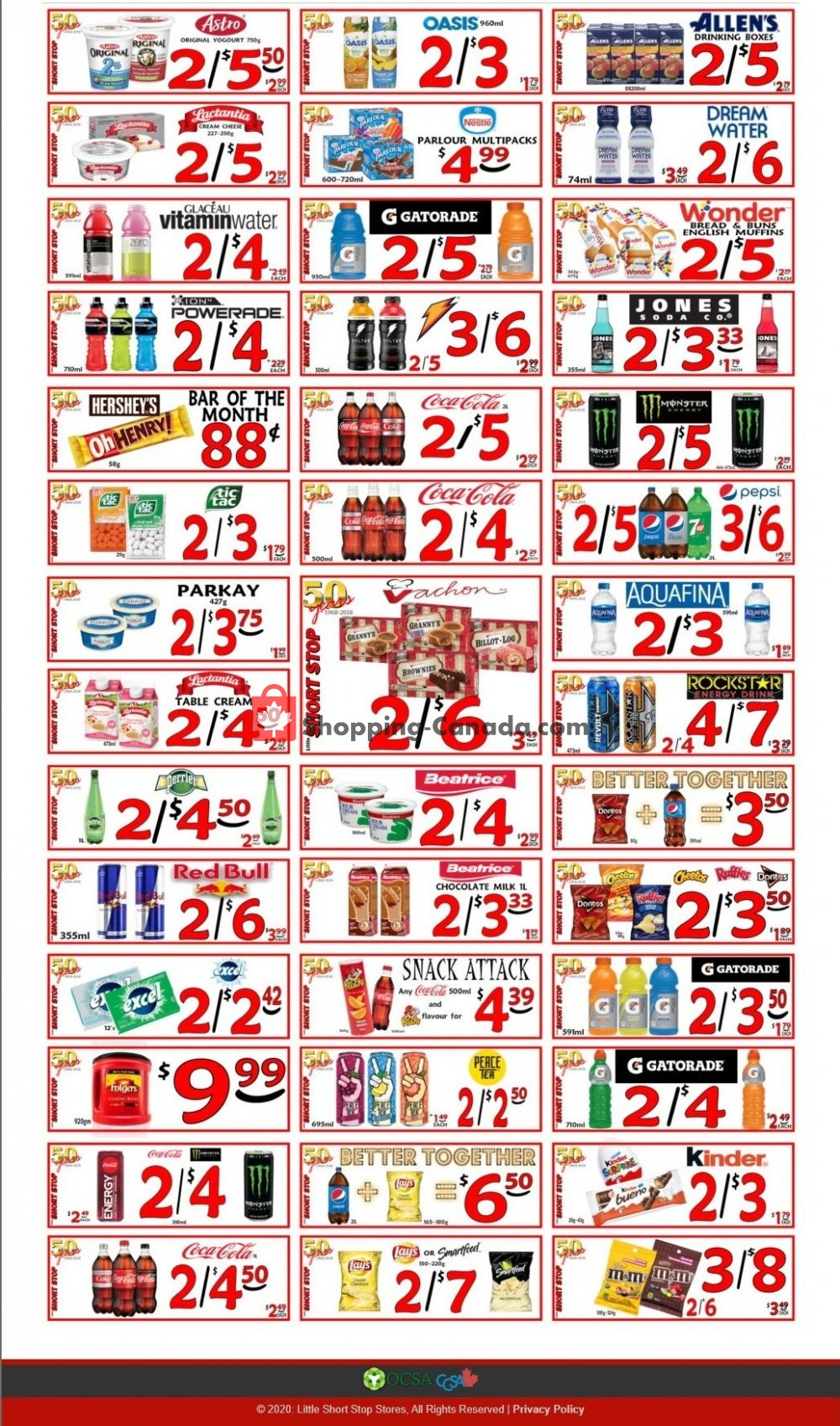 Flyer Little Short Stop Stores Canada - from Tuesday October 13, 2020 to Monday October 19, 2020