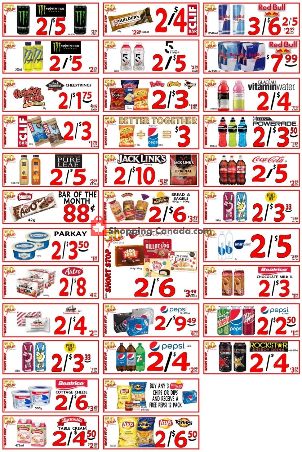 Flyer Little Short Stop Stores Canada - from Tuesday January 14, 2020 to Monday January 20, 2020