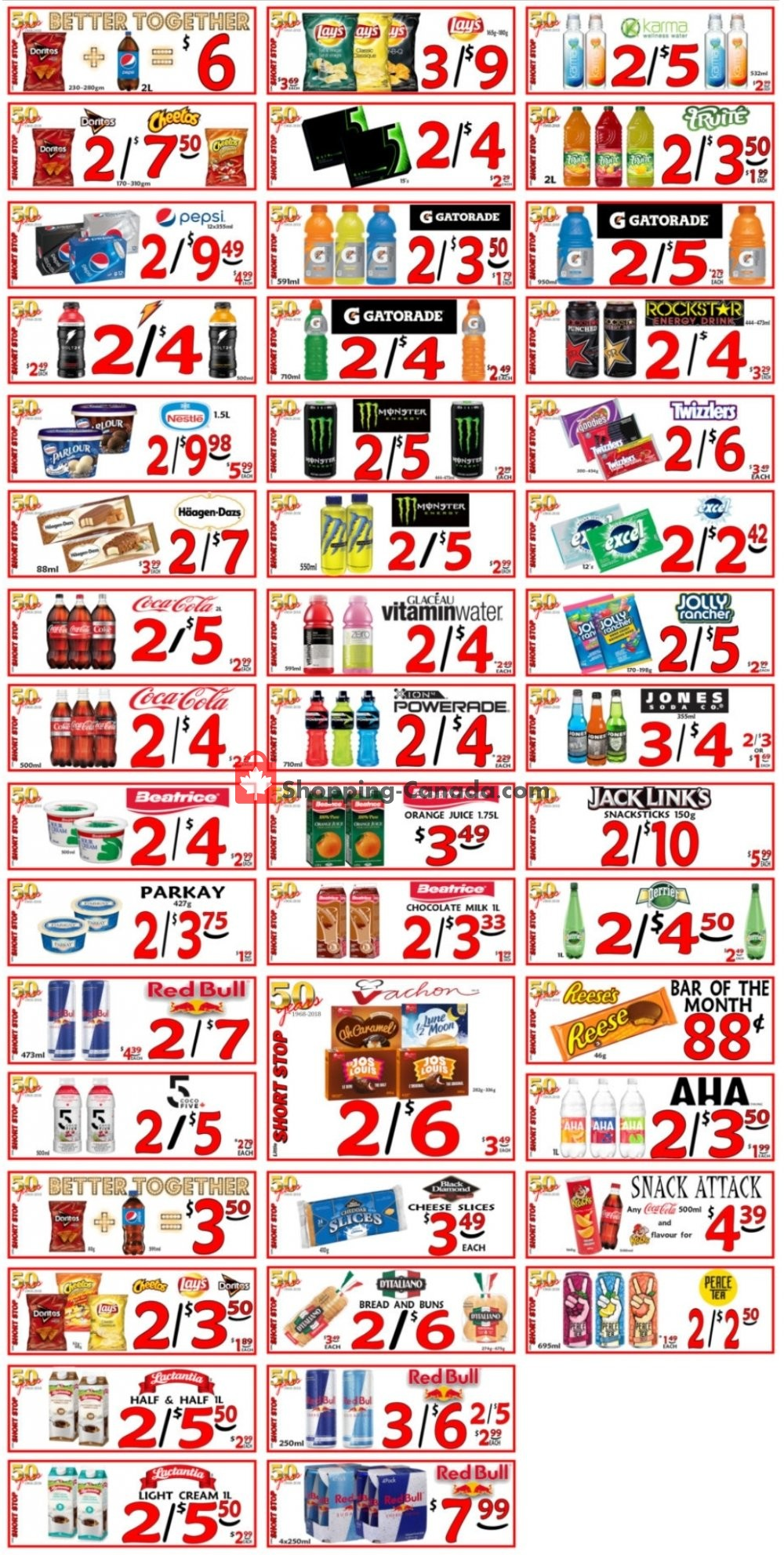Flyer Little Short Stop Stores Canada - from Tuesday July 14, 2020 to Monday July 20, 2020