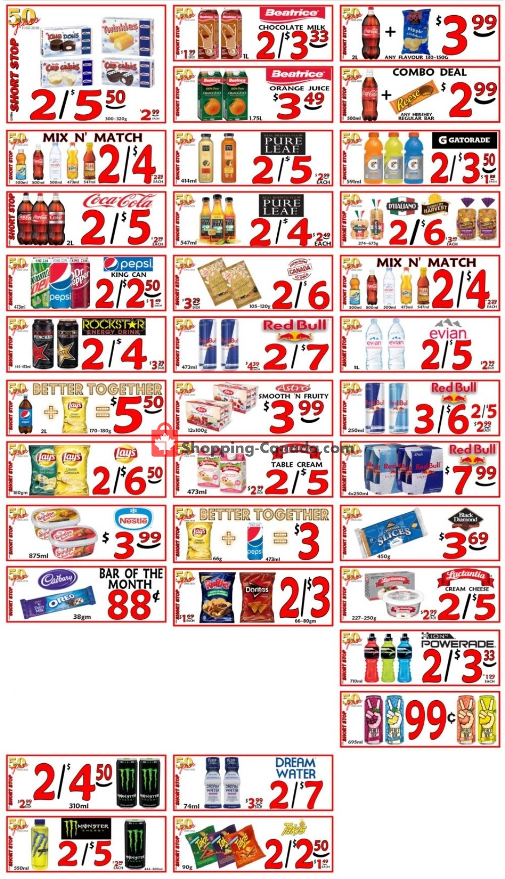 Flyer Little Short Stop Stores Canada - from Friday March 8, 2019 to Thursday March 14, 2019