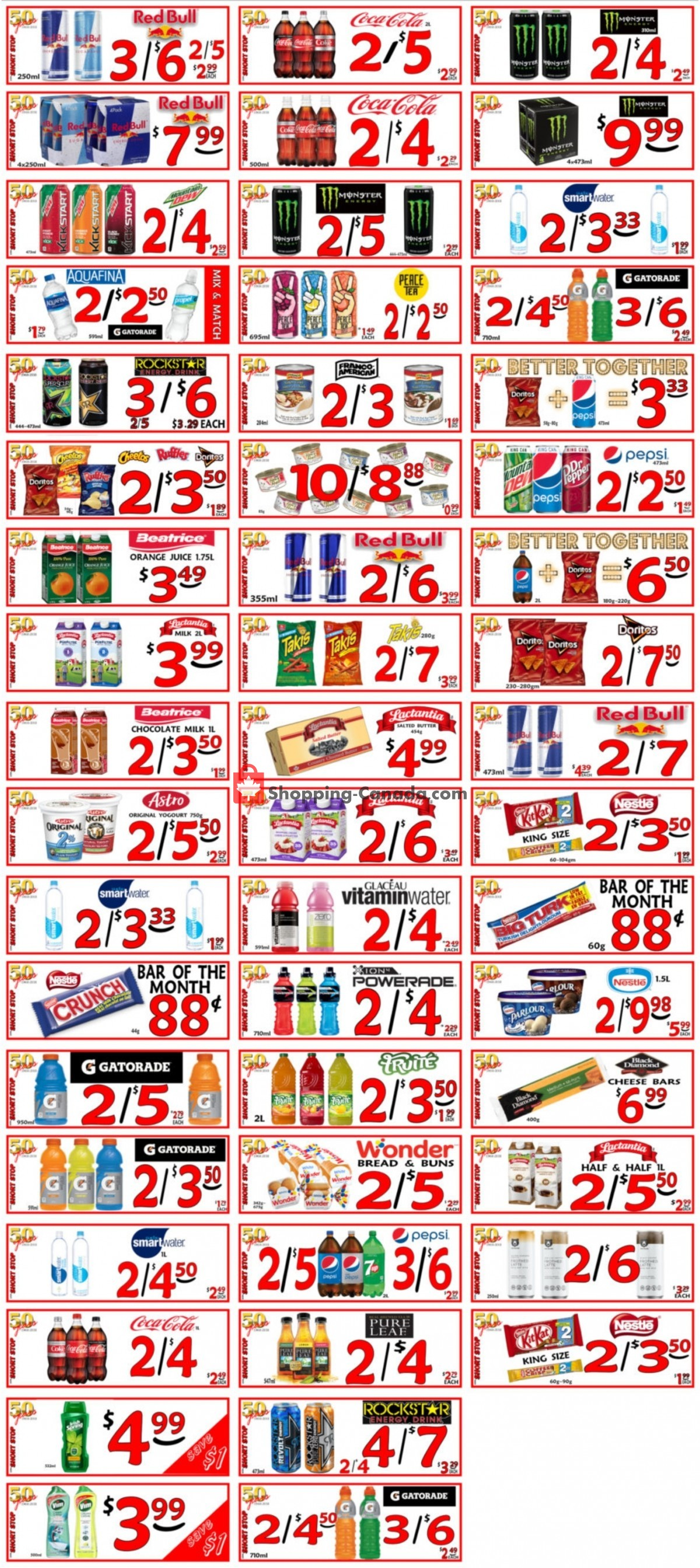 Flyer Little Short Stop Stores Canada - from Thursday October 7, 2021 to Wednesday October 13, 2021