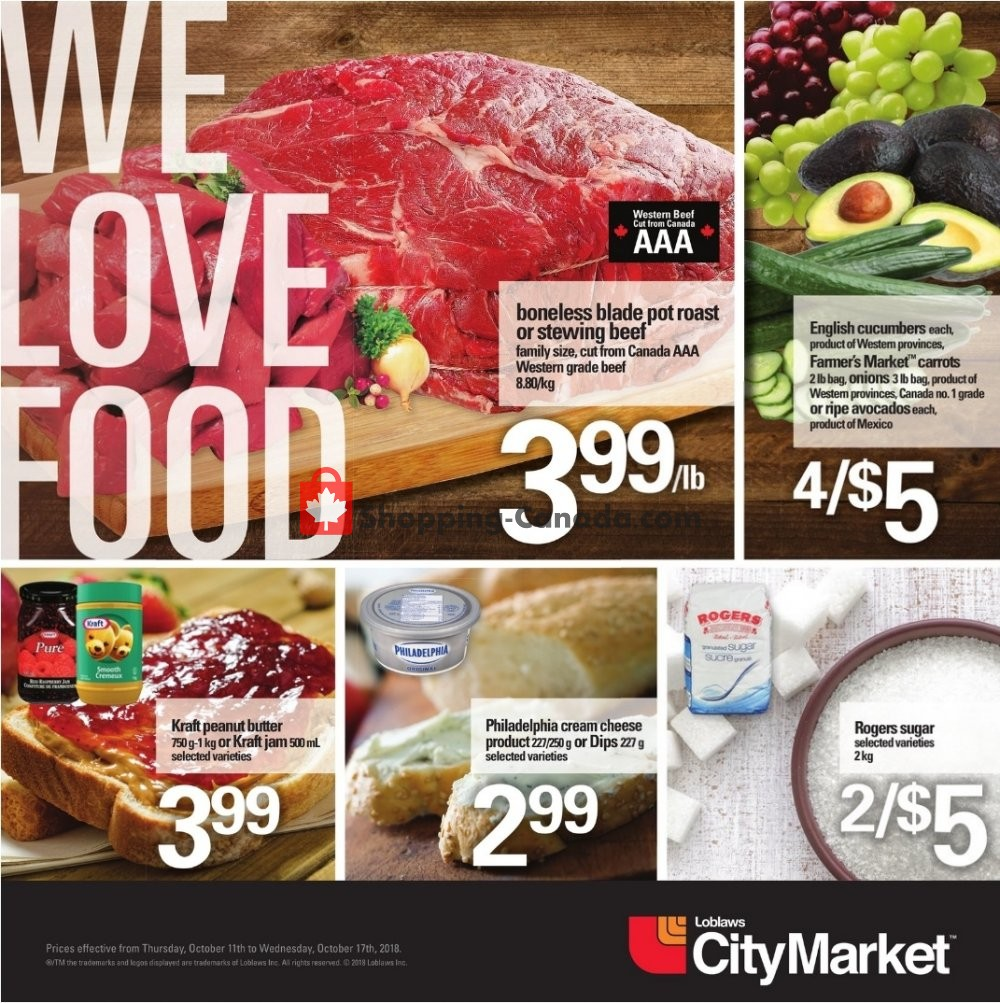 Flyer Loblaws Canada - from Thursday October 11, 2018 to Wednesday October 17, 2018