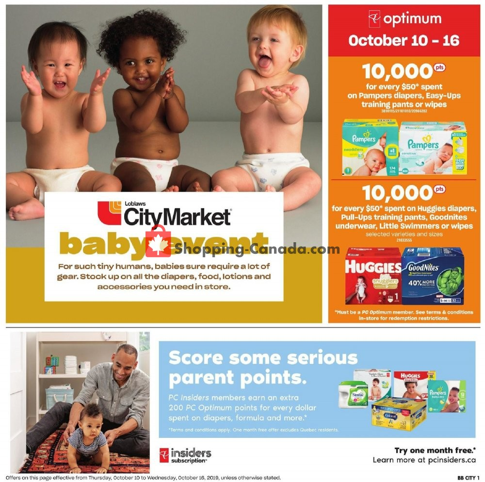 Flyer Loblaws Canada - from Thursday October 10, 2019 to Wednesday October 16, 2019