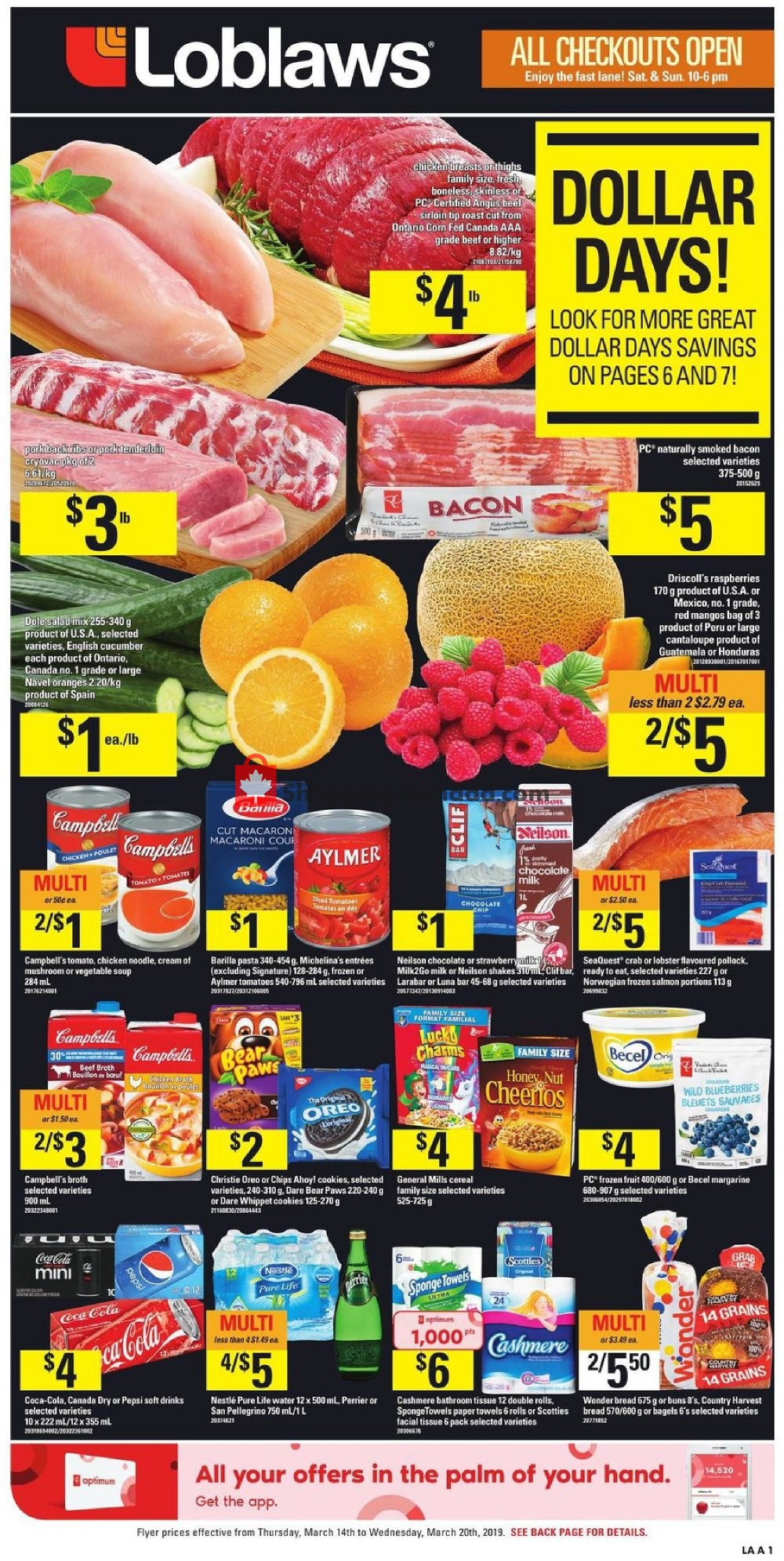 Flyer Loblaws Canada - from Thursday March 14, 2019 to Wednesday March 20, 2019