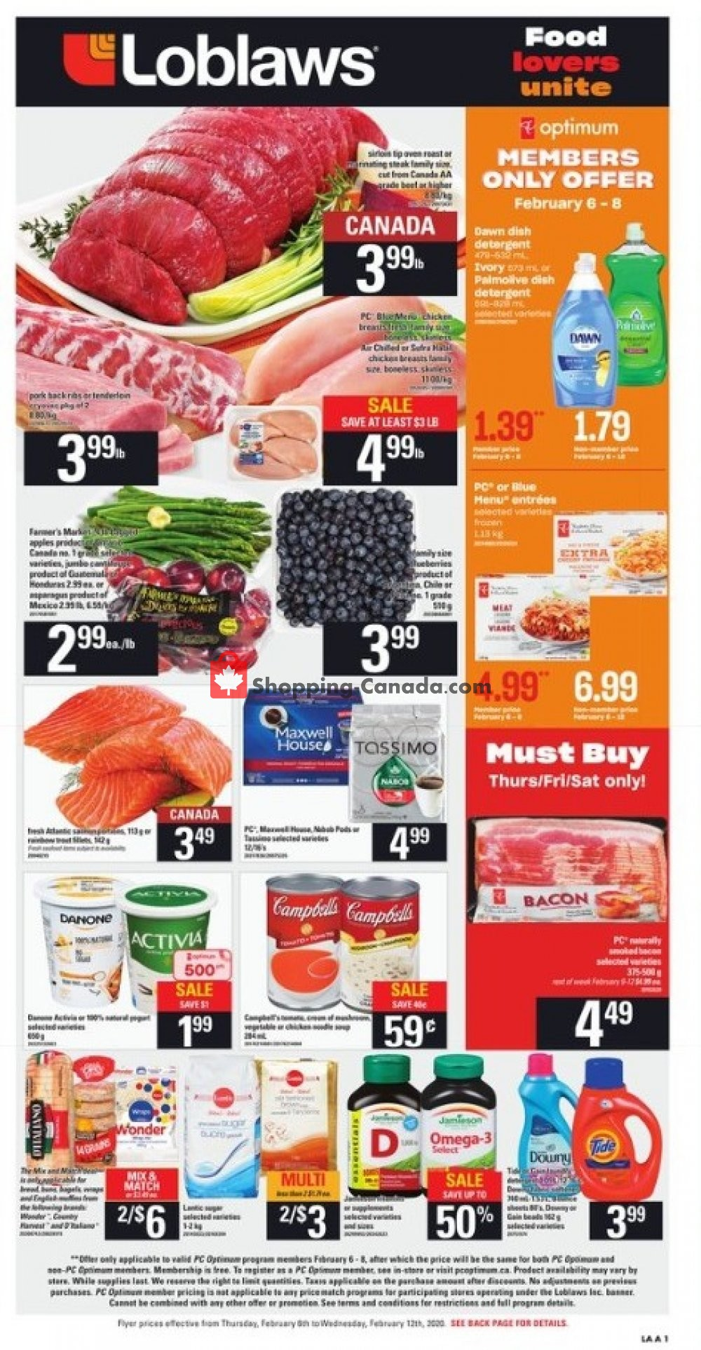 Flyer Loblaws Canada - from Thursday February 6, 2020 to Wednesday February 12, 2020
