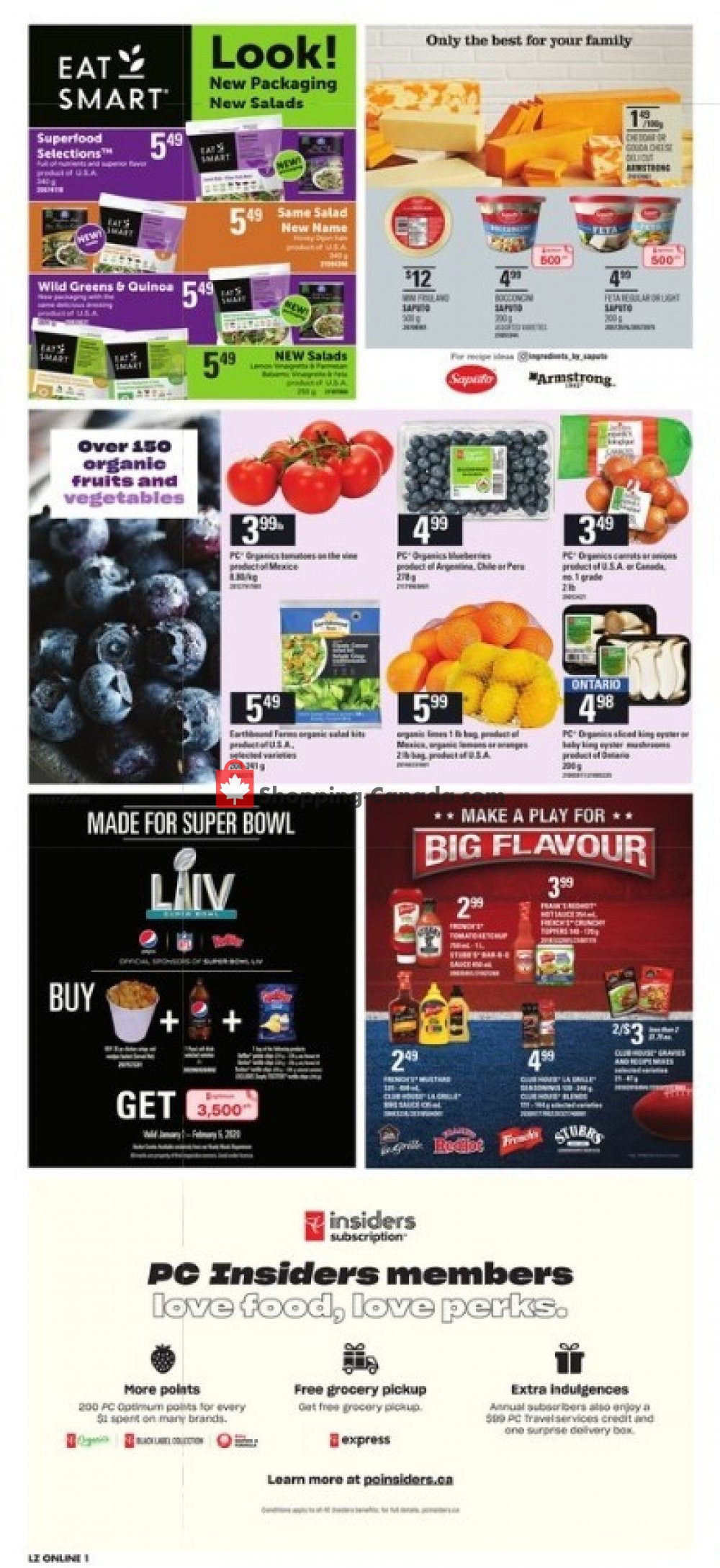 Flyer Loblaws Canada - from Thursday January 16, 2020 to Wednesday January 22, 2020