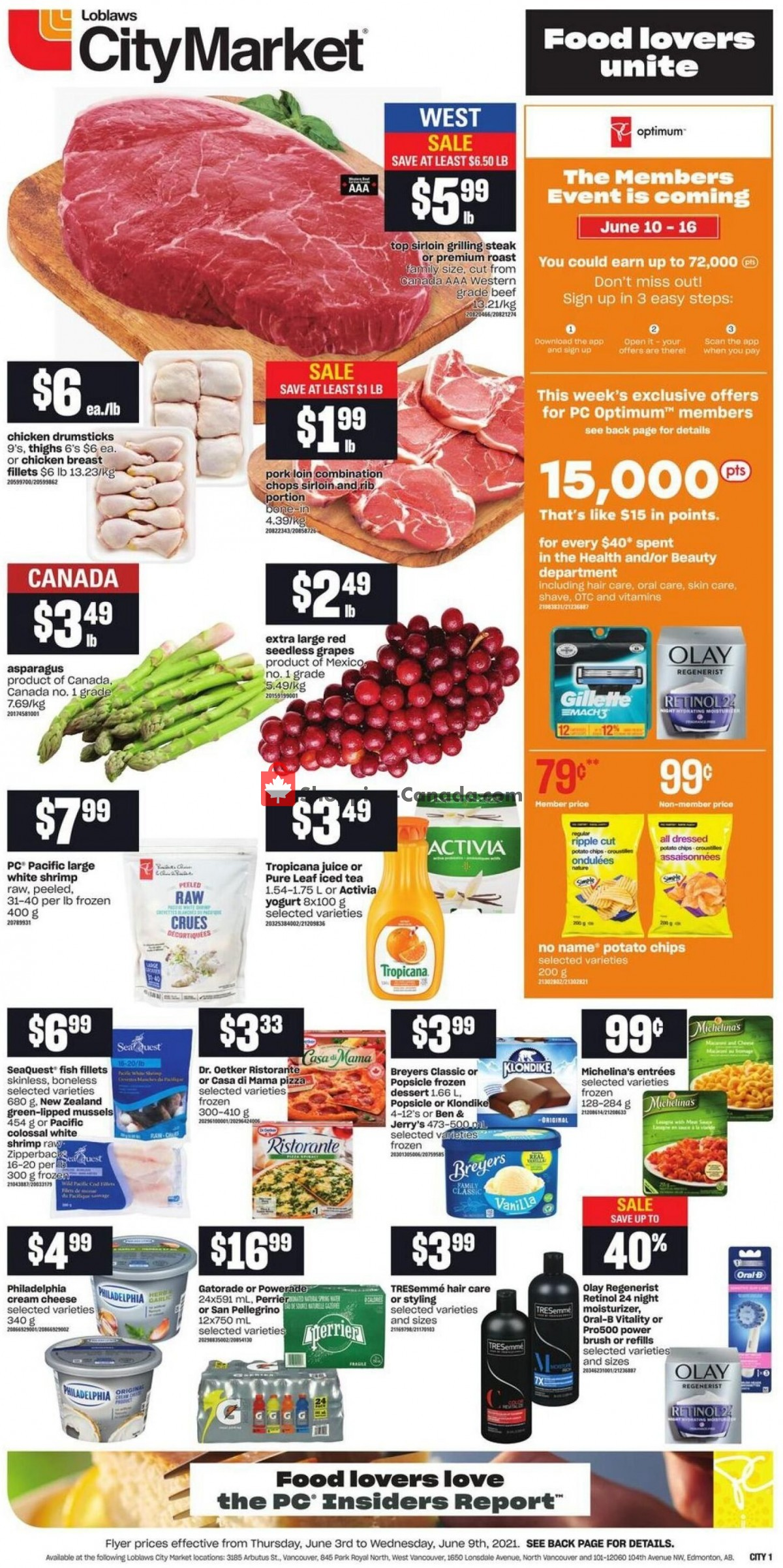 Flyer Loblaws Canada - from Thursday June 3, 2021 to Wednesday June 9, 2021