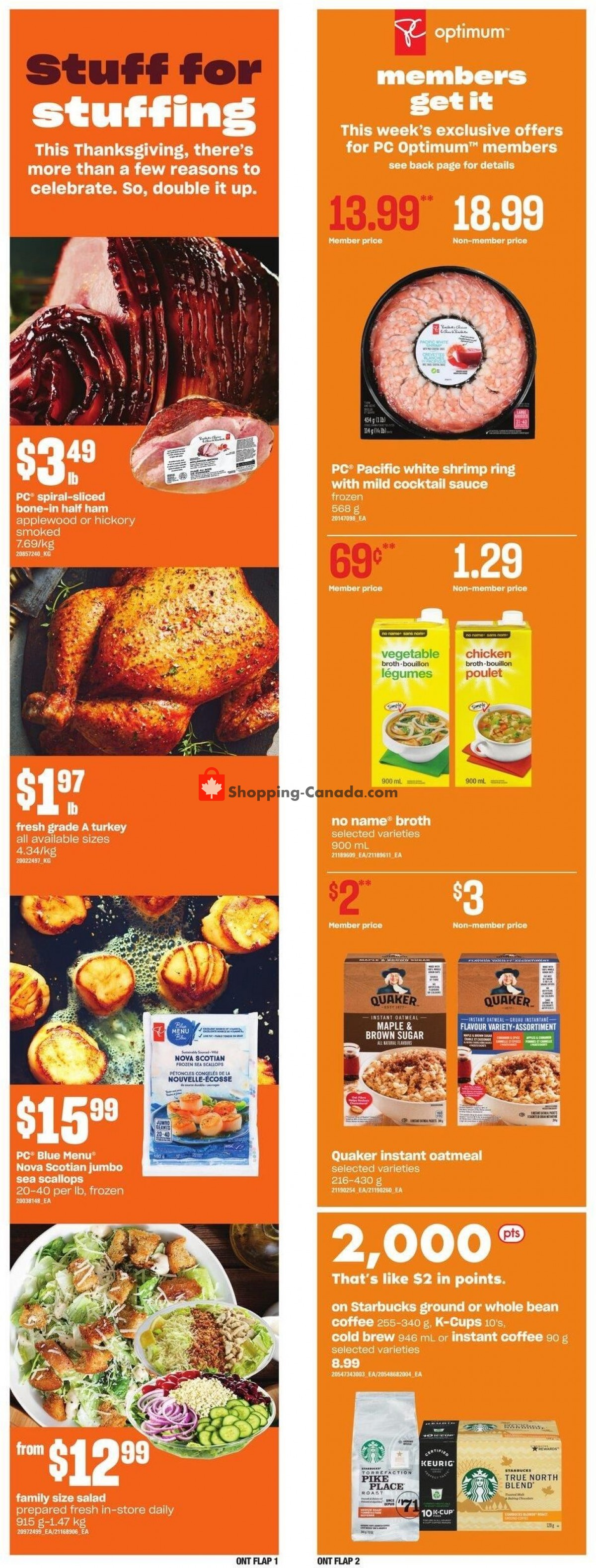 Flyer Loblaws Canada - from Thursday October 7, 2021 to Wednesday October 13, 2021