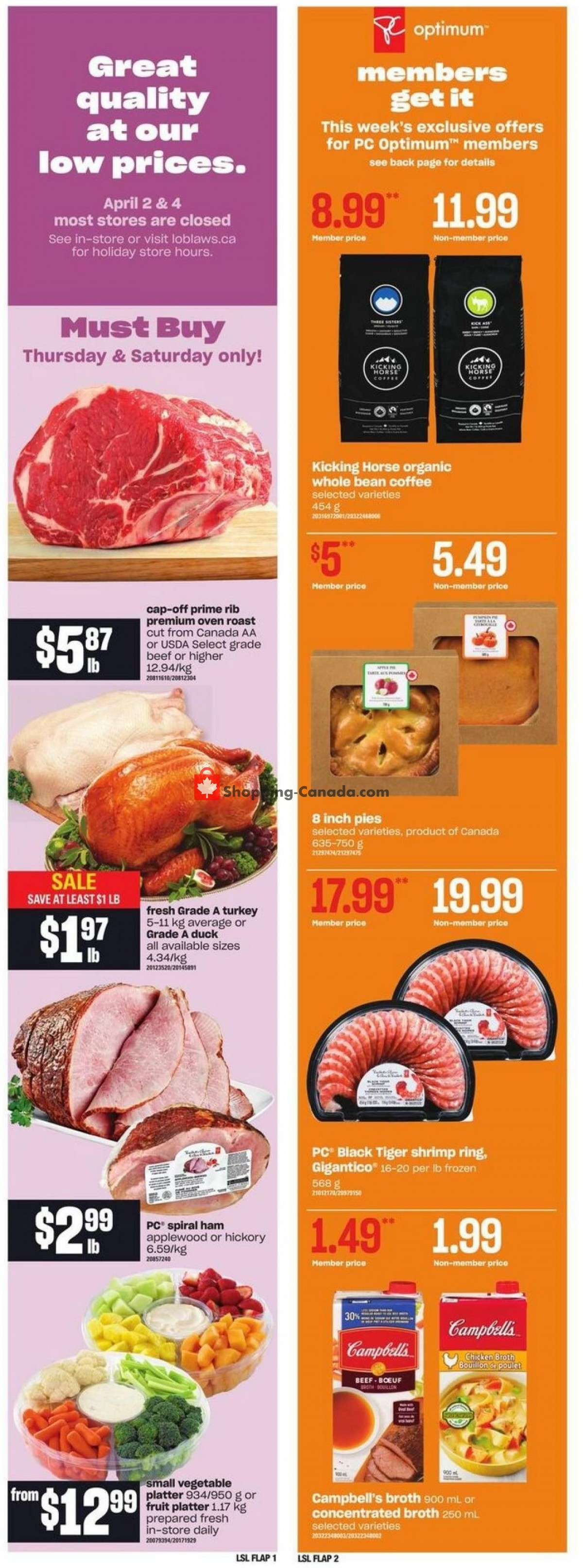 Flyer Loblaws Canada - from Thursday April 1, 2021 to Wednesday April 7, 2021