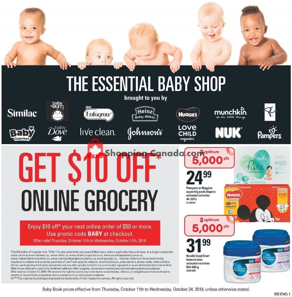 Flyer Loblaws Canada - from Thursday October 11, 2018 to Wednesday October 24, 2018