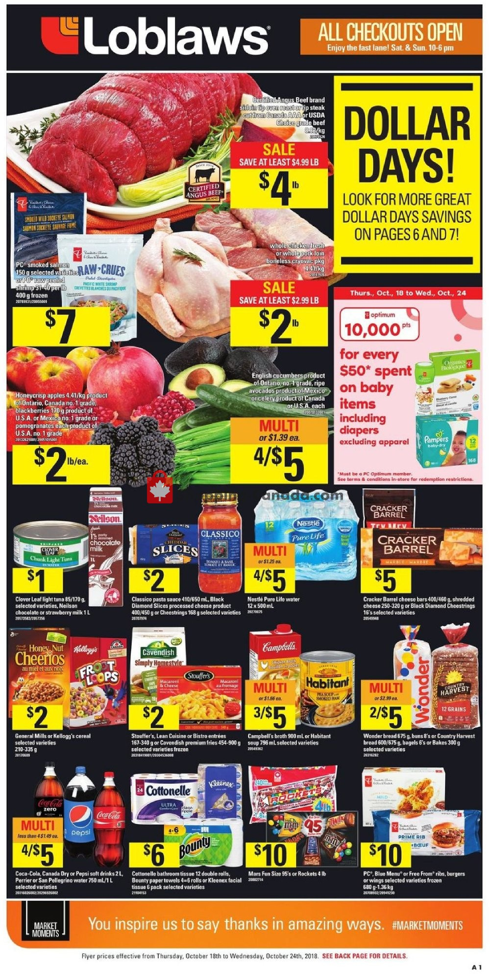 Flyer Loblaws Canada - from Thursday October 18, 2018 to Wednesday October 24, 2018