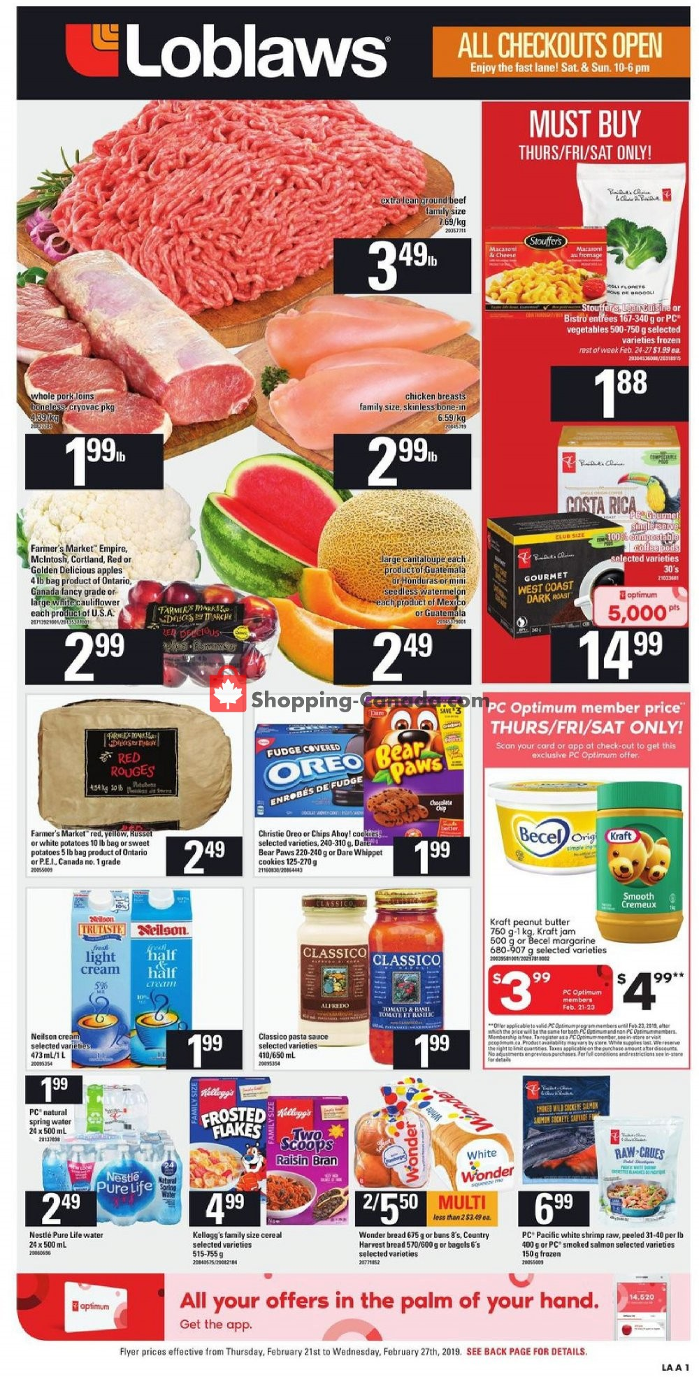 Flyer Loblaws Canada - from Thursday February 21, 2019 to Wednesday February 27, 2019