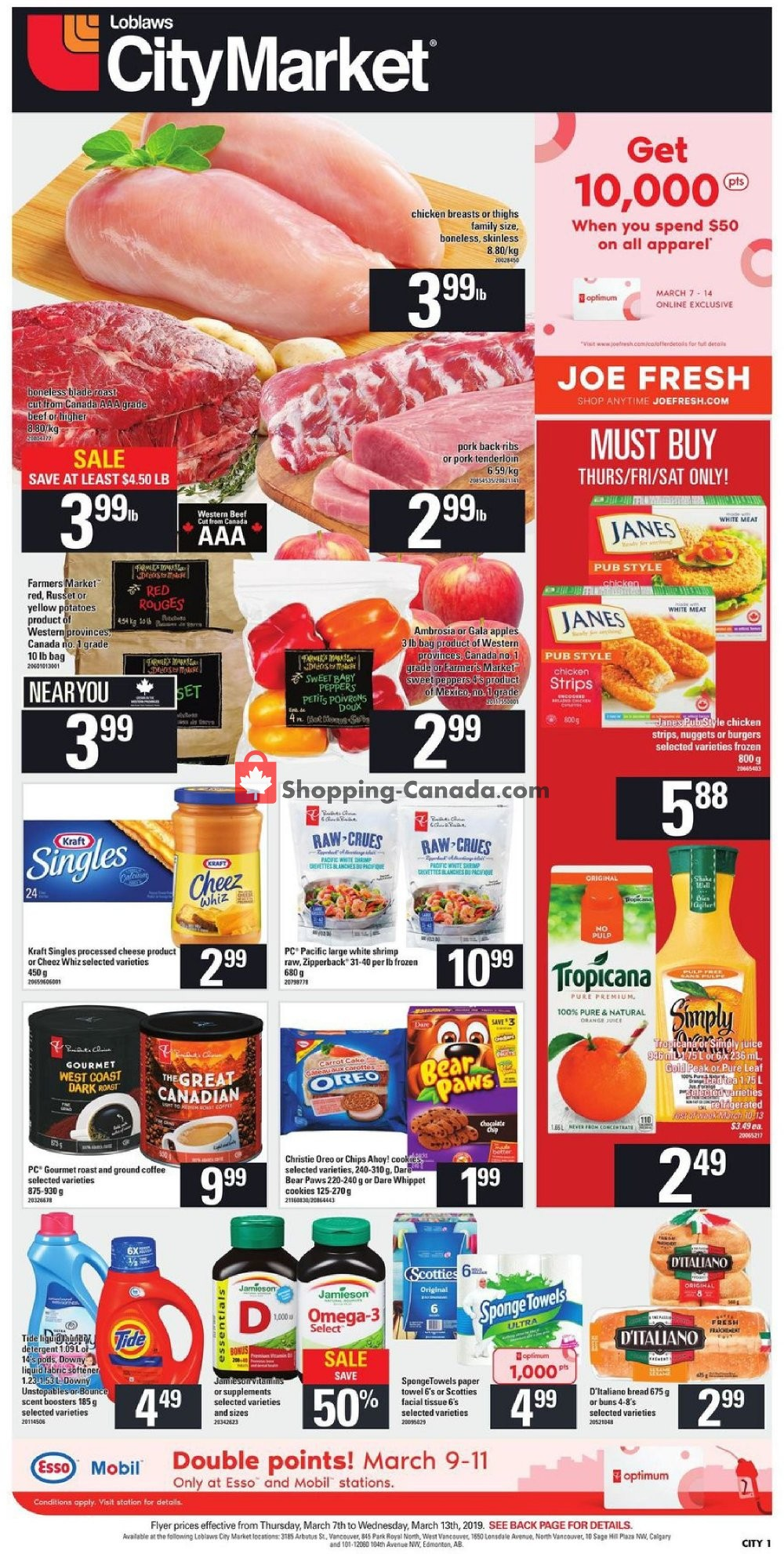 Flyer Loblaws Canada - from Thursday March 7, 2019 to Wednesday March 13, 2019