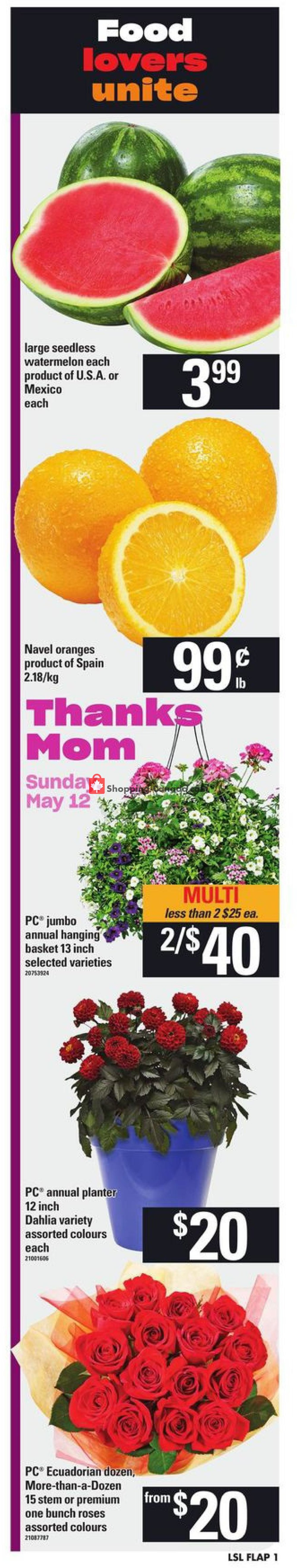 Flyer Loblaws Canada - from Thursday May 9, 2019 to Wednesday May 15, 2019
