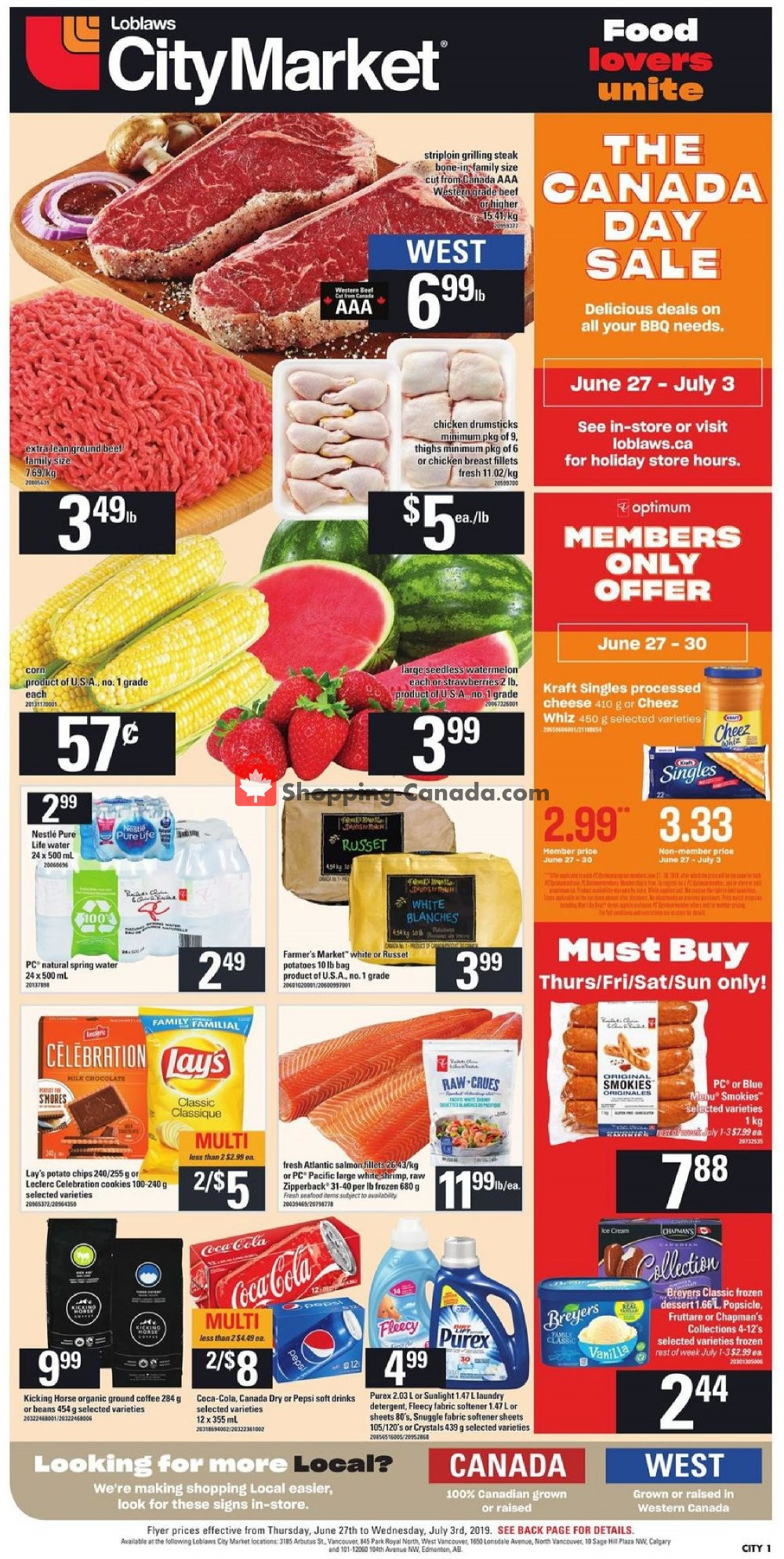 Flyer Loblaws Canada - from Thursday June 27, 2019 to Wednesday July 3, 2019