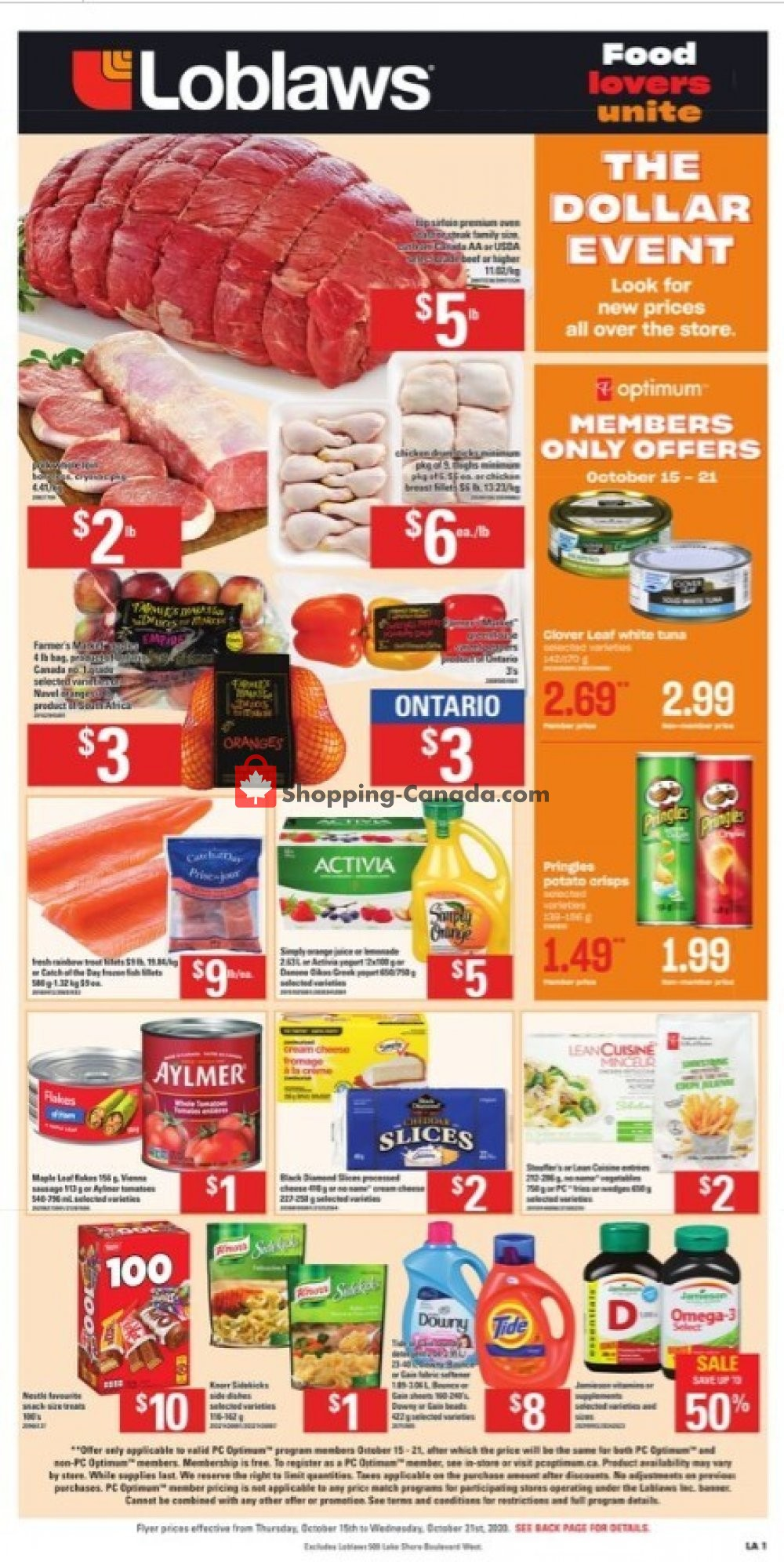 Flyer Loblaws Canada - from Thursday October 15, 2020 to Wednesday October 21, 2020