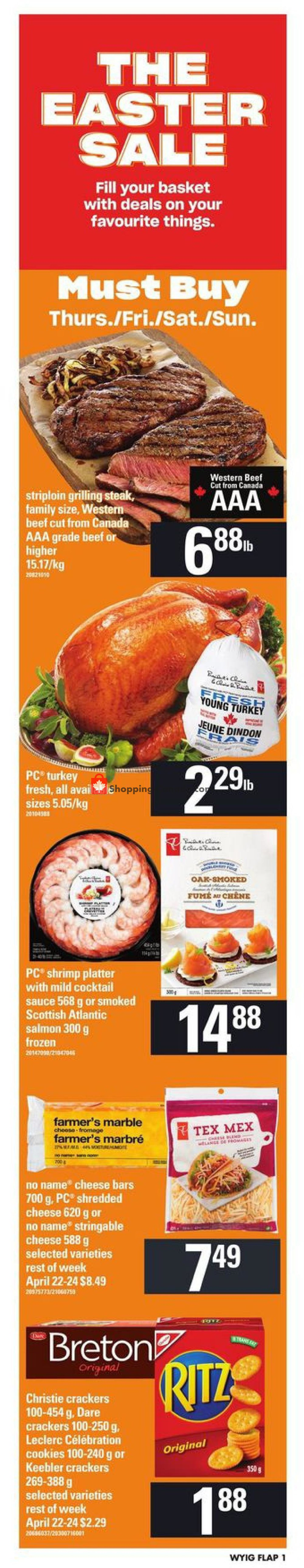 Flyer Loblaws Canada - from Thursday April 18, 2019 to Wednesday April 24, 2019