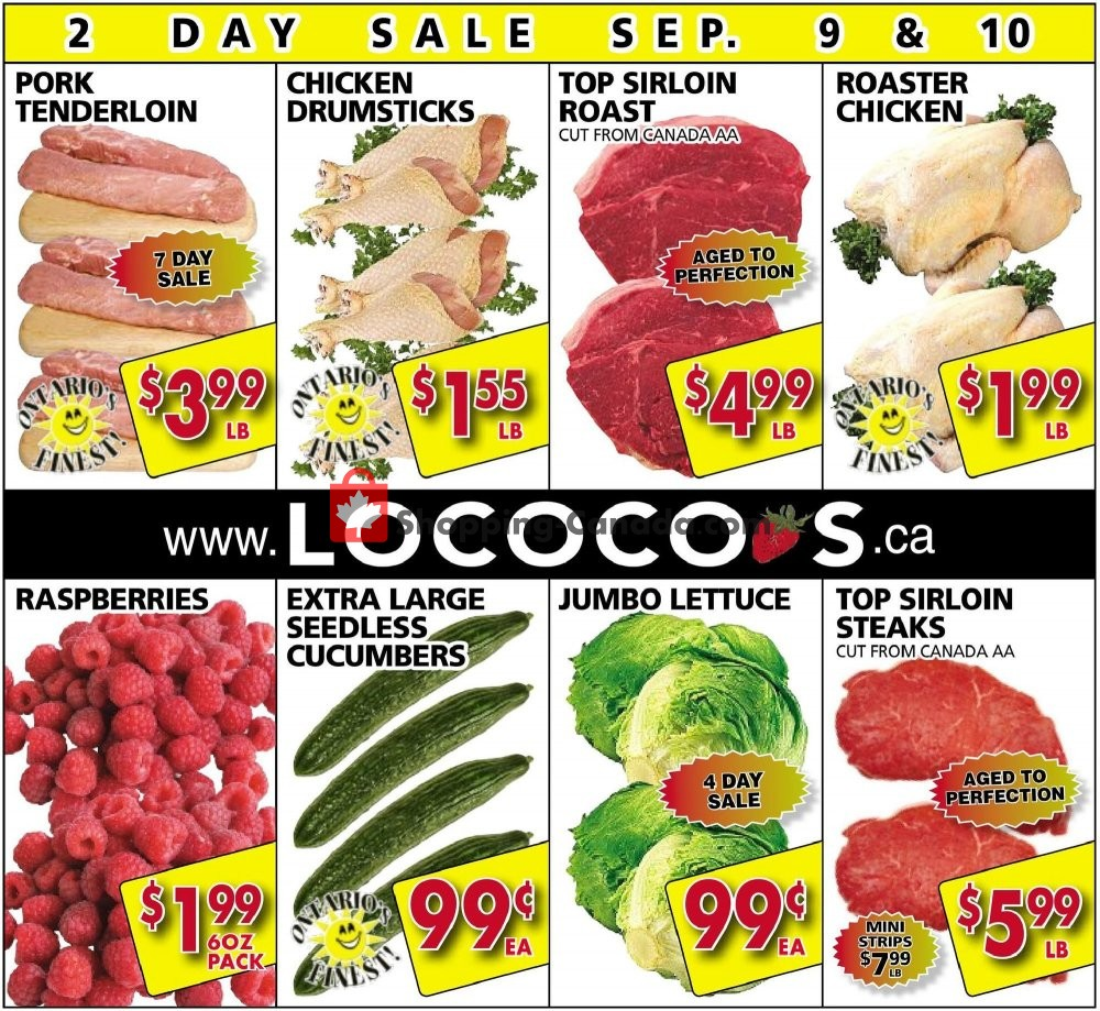 Flyer Lococo's Canada - from Monday September 9, 2019 to Tuesday September 10, 2019