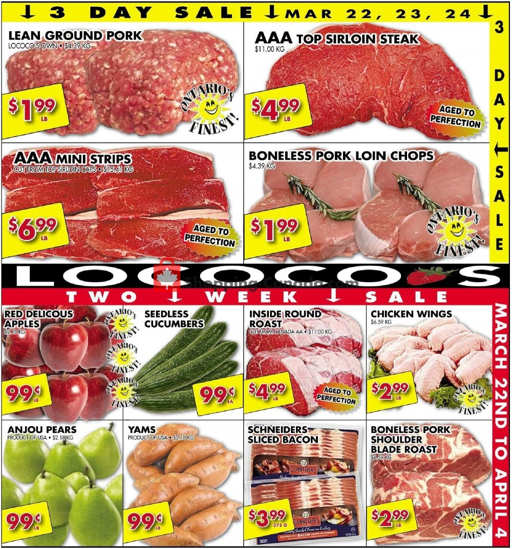 Flyer Lococo's Canada - from Friday March 22, 2019 to Thursday April 4, 2019
