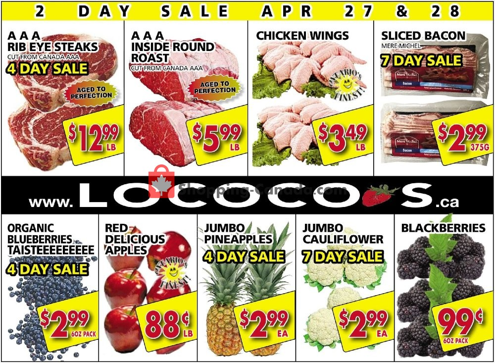 Flyer Lococo's Canada - from Monday April 27, 2020 to Tuesday April 28, 2020