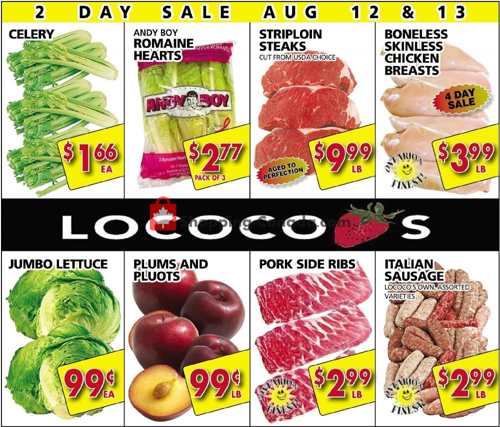 Flyer Lococo's Canada - from Monday August 12, 2019 to Tuesday August 13, 2019