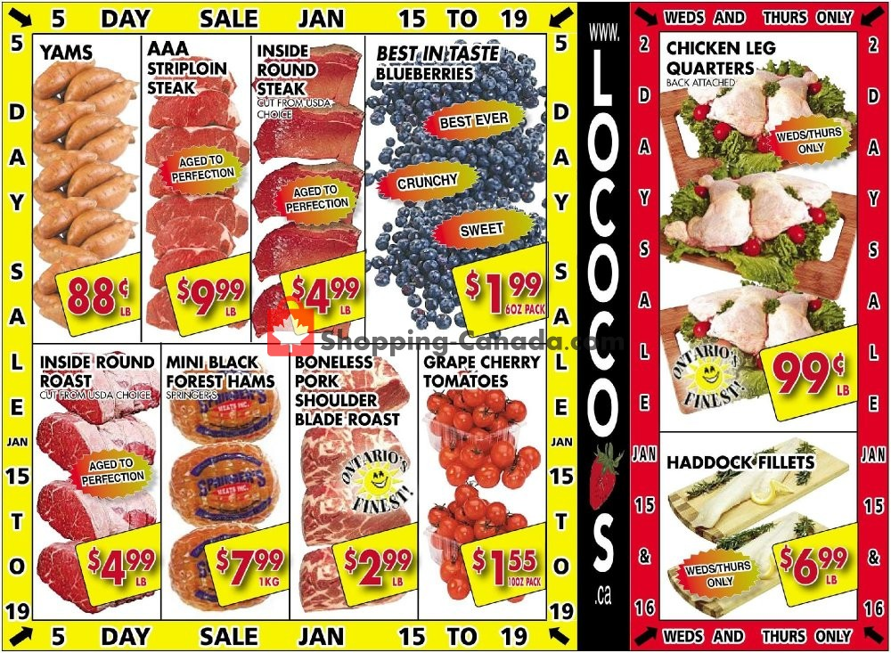 Flyer Lococo's Canada - from Wednesday January 15, 2020 to Sunday January 19, 2020