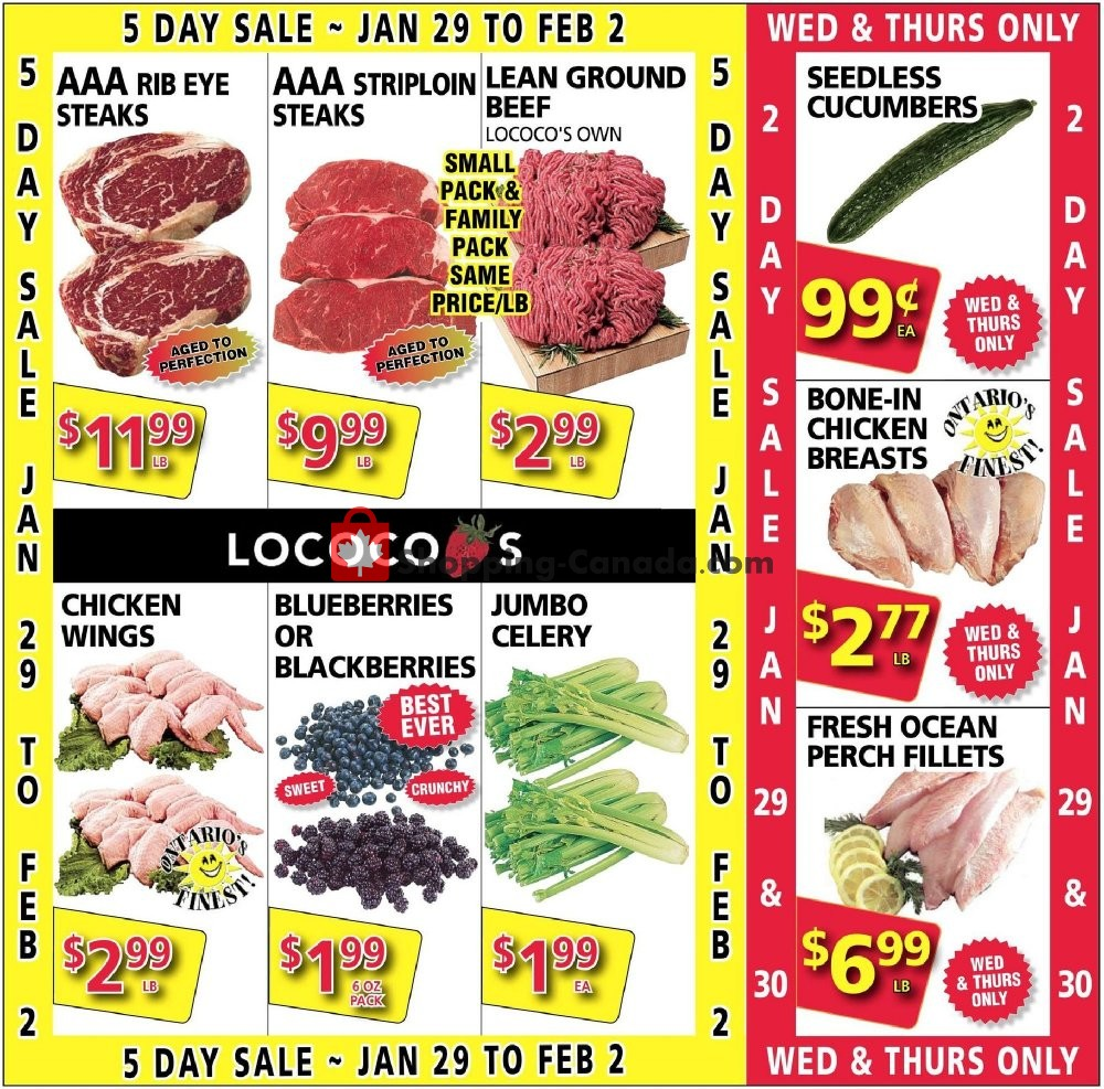 Flyer Lococo's Canada - from Wednesday January 29, 2020 to Thursday January 30, 2020