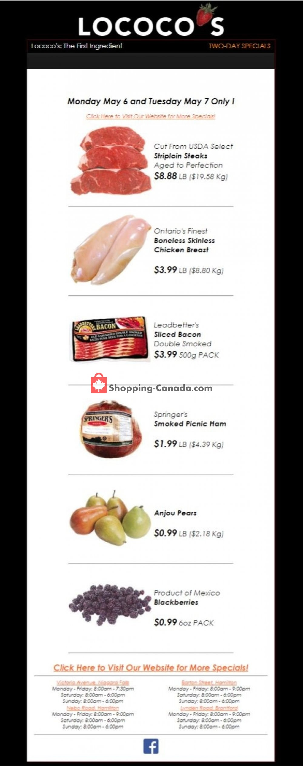 Flyer Lococo's Canada - from Monday May 6, 2019 to Tuesday May 7, 2019