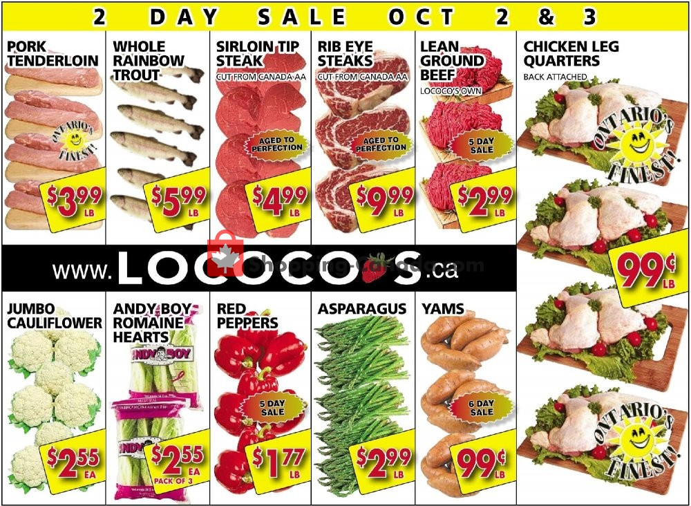 Flyer Lococo's Canada - from Wednesday October 2, 2019 to Thursday October 3, 2019