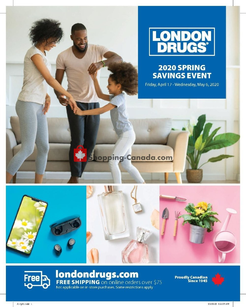 Flyer London Drugs Canada - from Friday April 17, 2020 to Wednesday May 6, 2020