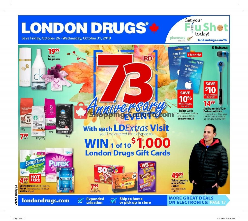 Flyer London Drugs Canada - from Friday October 26, 2018 to Wednesday October 31, 2018