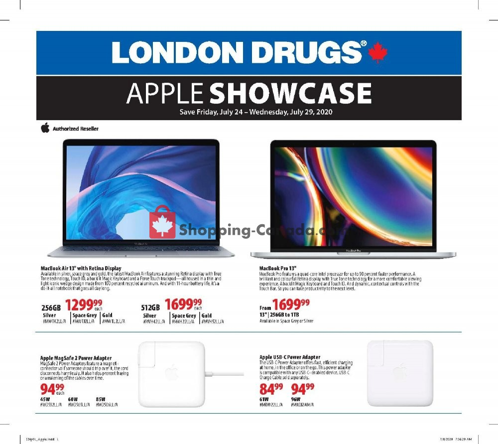 Flyer London Drugs Canada - from Friday July 24, 2020 to Wednesday July 29, 2020