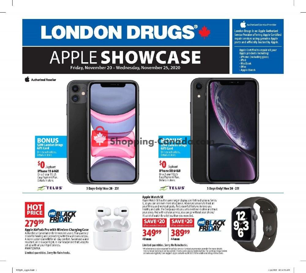 Flyer London Drugs Canada - from Friday November 20, 2020 to Wednesday November 25, 2020